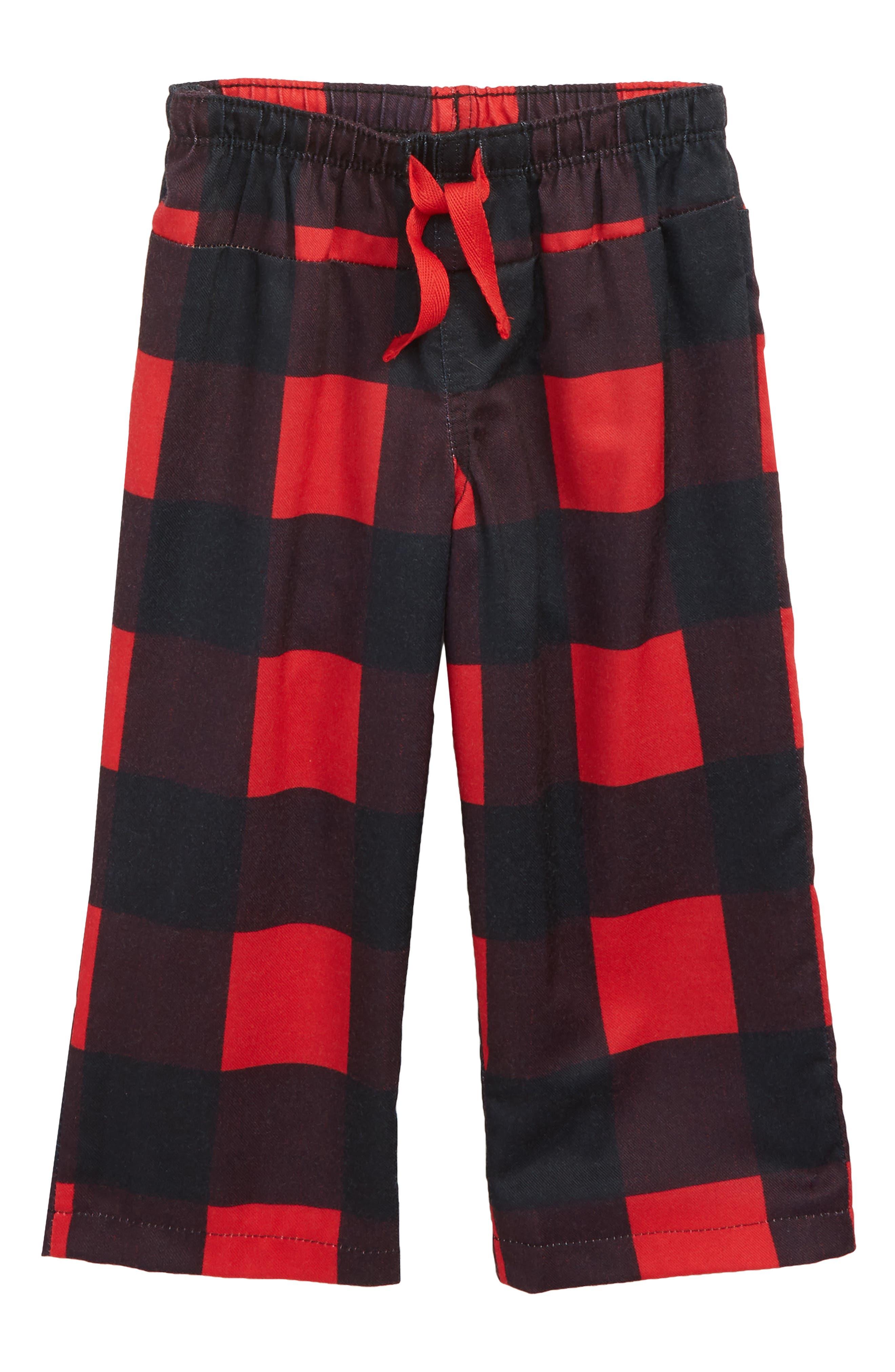 Plaid Flannel Pants,                         Main,                         color,