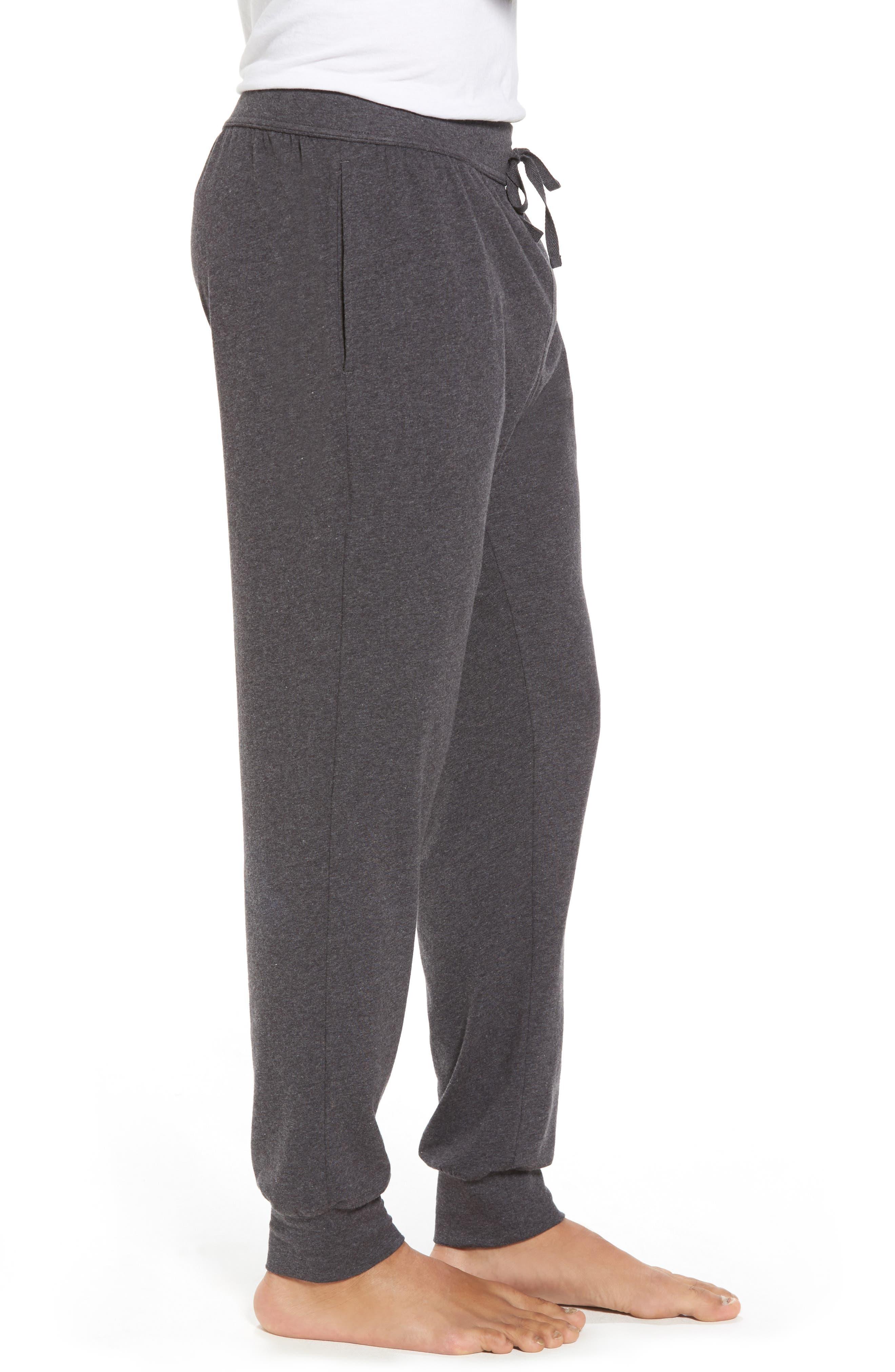 Stretch Cotton Lounge Pants,                             Alternate thumbnail 3, color,                             021
