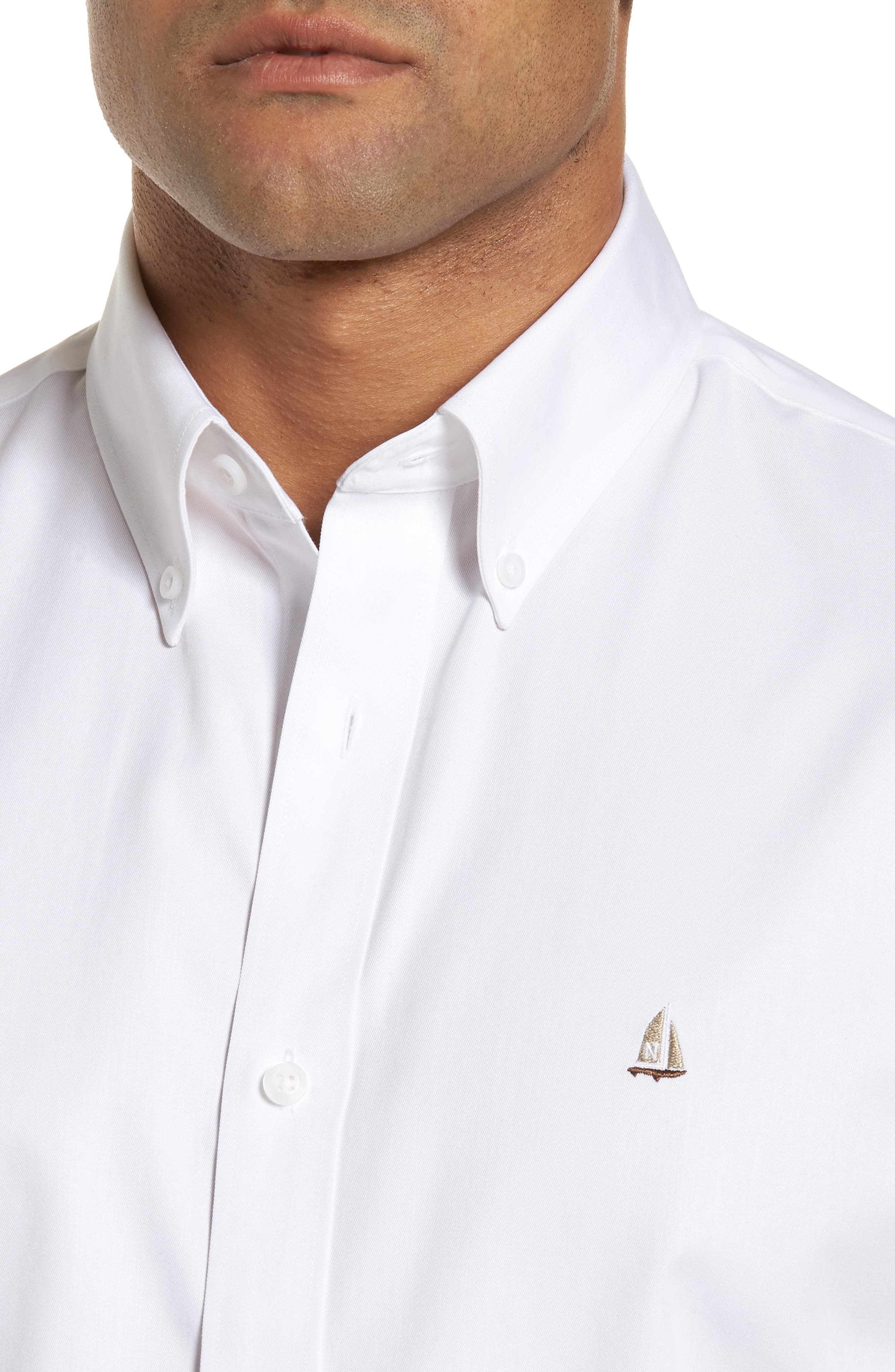 Smartcare<sup>™</sup> Traditional Fit Twill Boat Shirt,                             Alternate thumbnail 140, color,