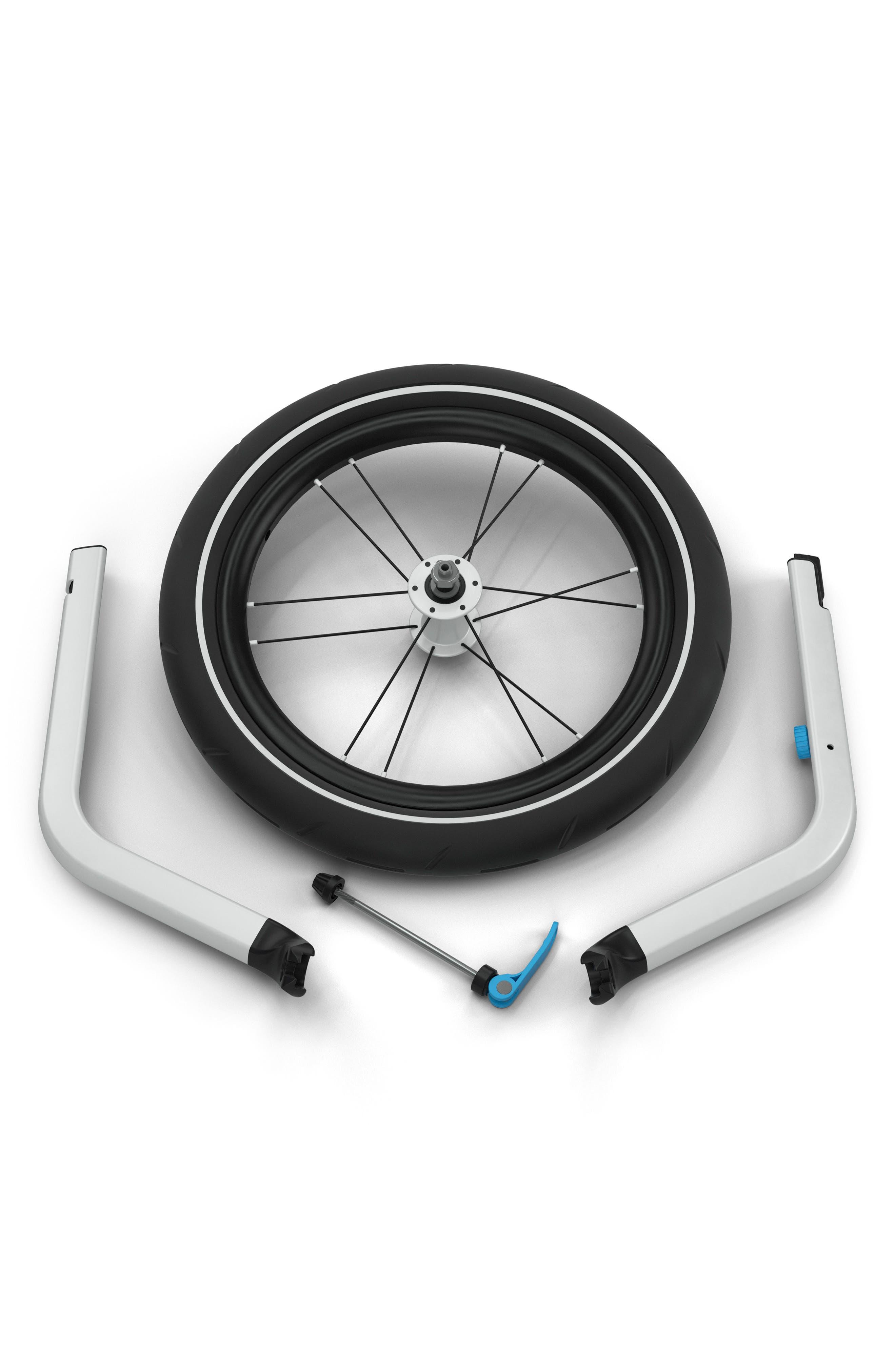 Jogger Conversion Kit for Thule Chariot Single Stroller,                             Alternate thumbnail 2, color,                             BLACK
