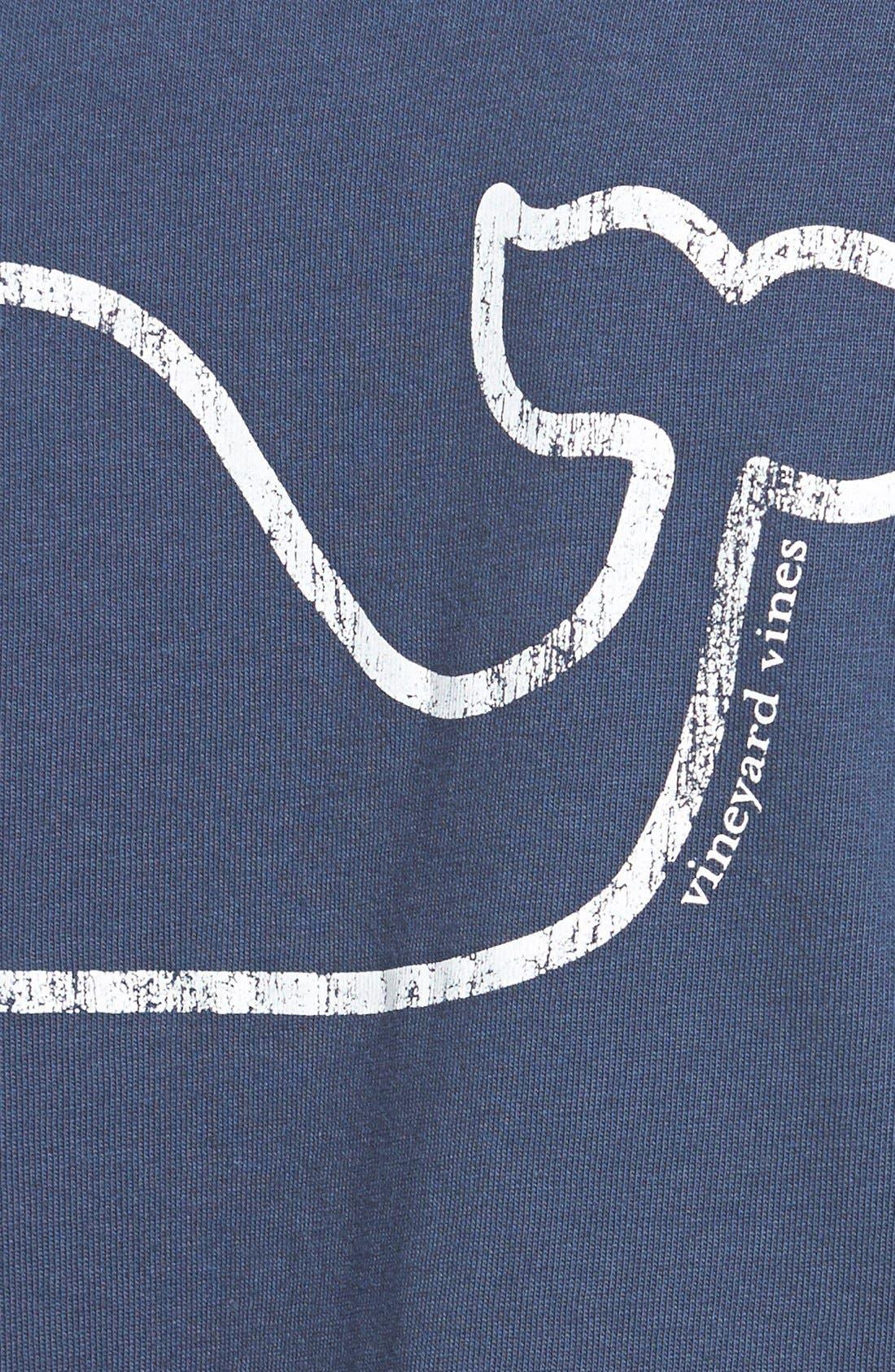 Whale Print Long Sleeve Tee,                             Alternate thumbnail 9, color,                             406