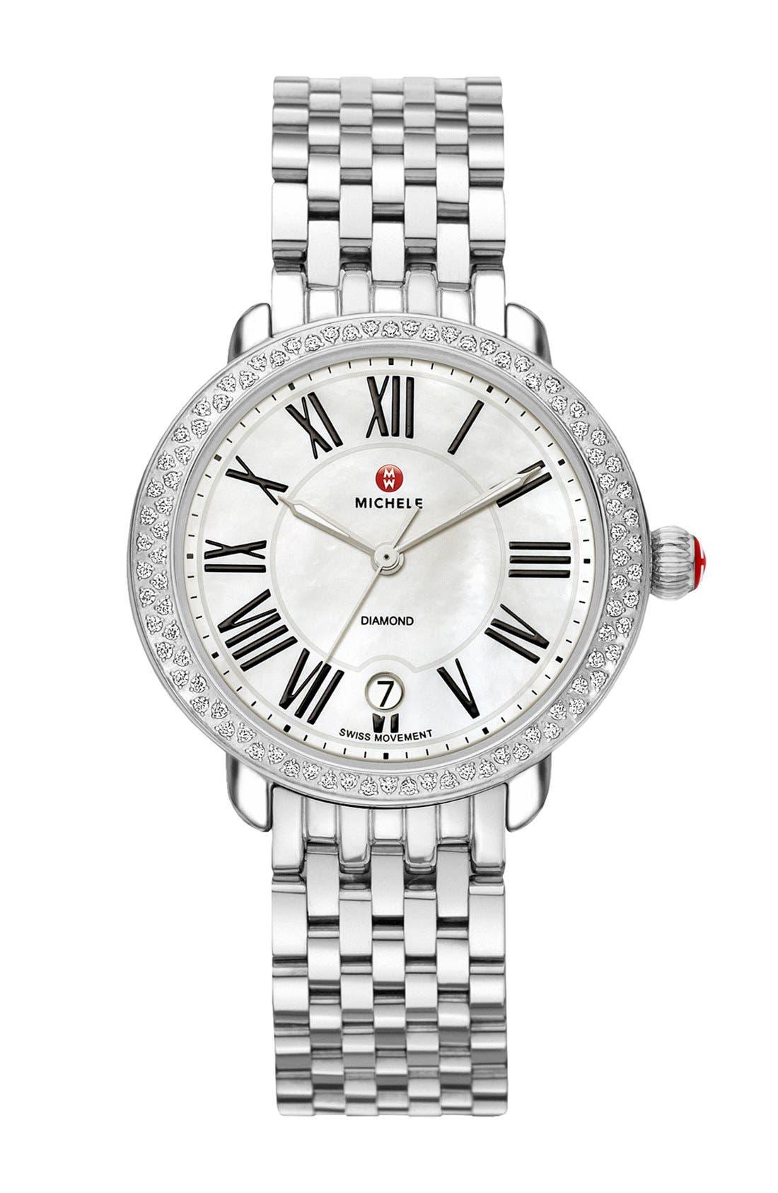 Serein 16 16mm Bracelet Watchband,                             Alternate thumbnail 4, color,                             SILVER