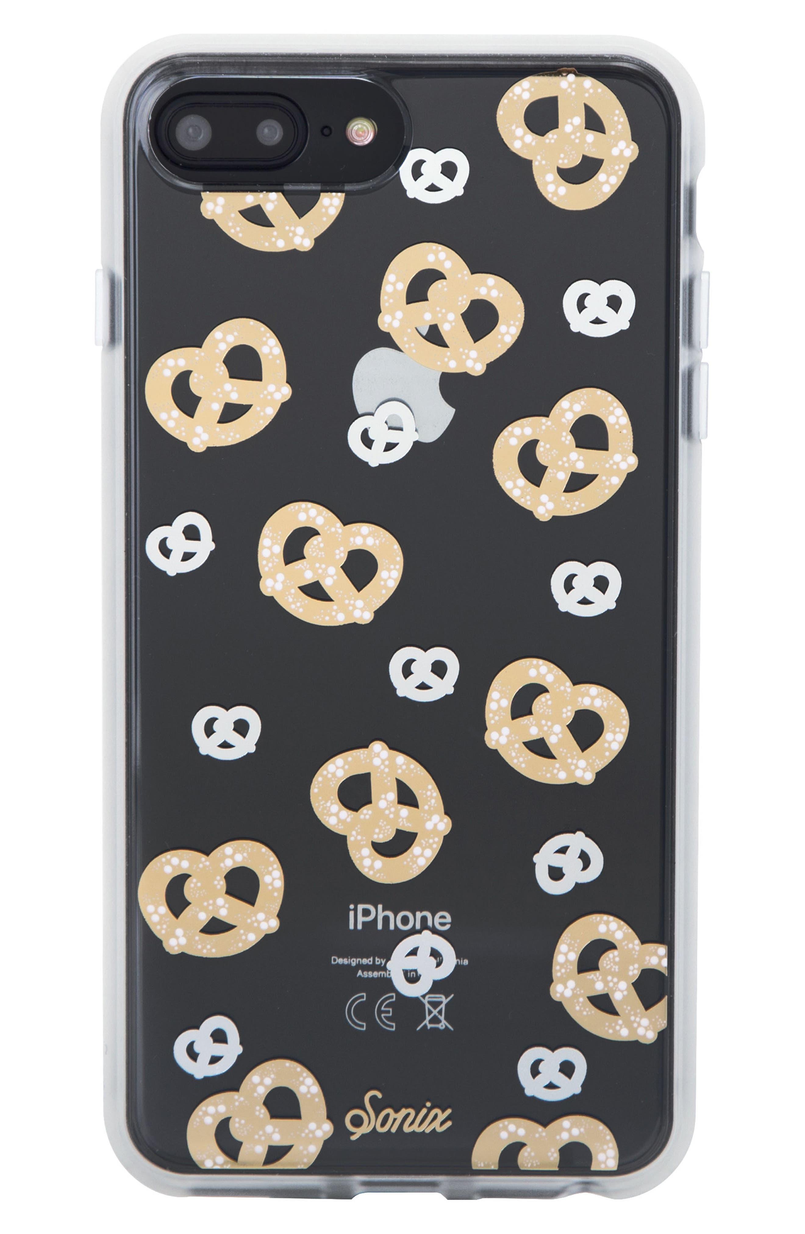 Pretzel iPhone 6/6s/7/8 & 6/6s/7/8 Plus Case,                             Main thumbnail 1, color,                             GOLD/ SILVER