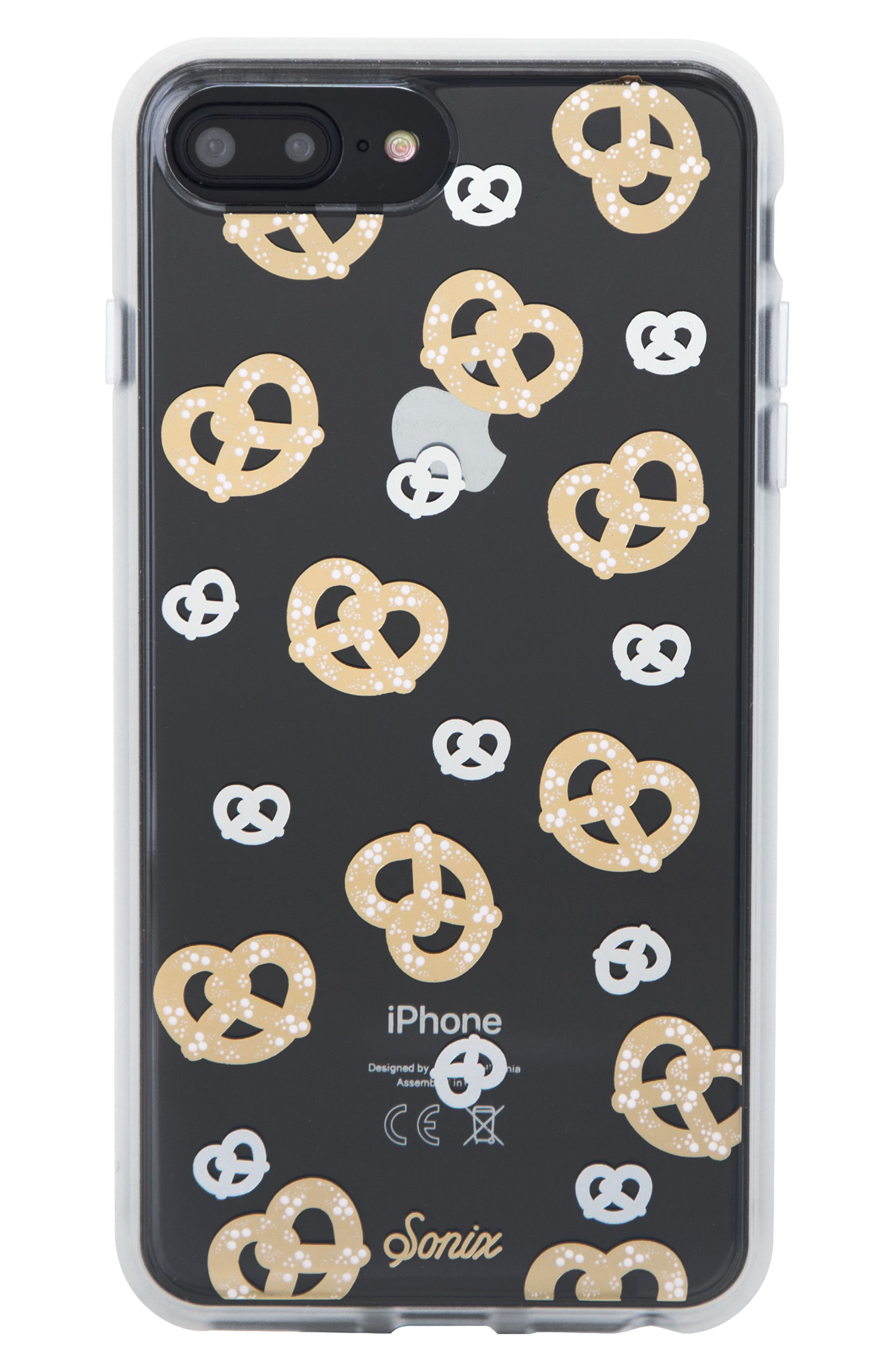 Pretzel iPhone 6/6s/7/8 & 6/6s/7/8 Plus Case,                         Main,                         color, GOLD/ SILVER