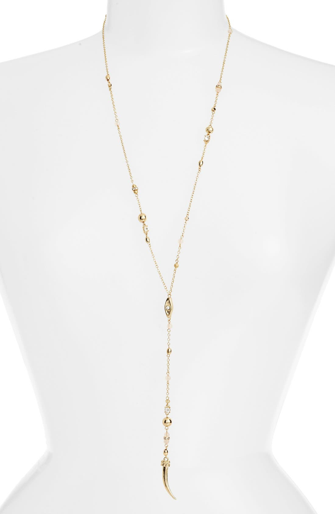 Beaded Tooth Necklace,                         Main,                         color, 711