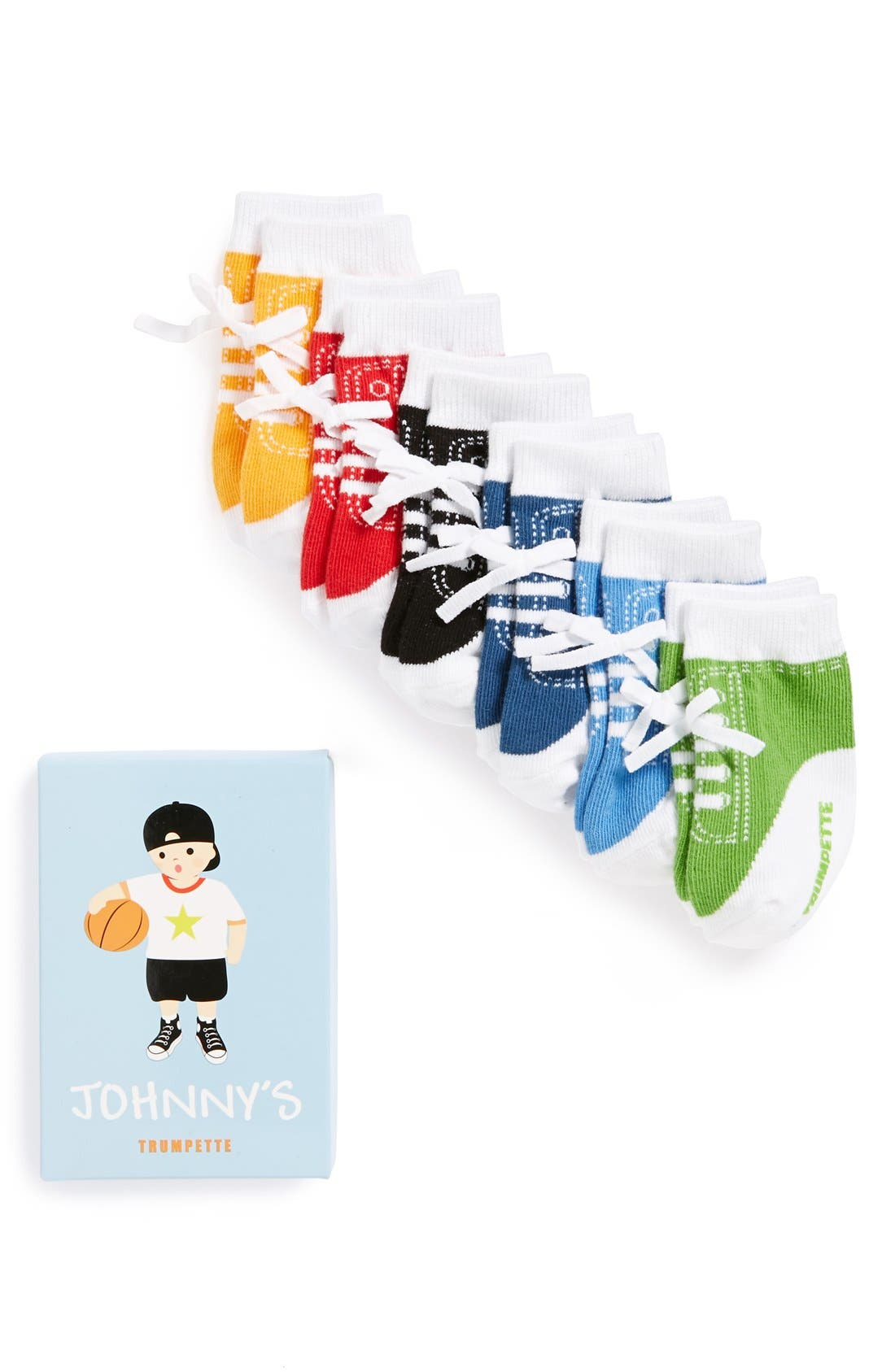 'Johnny' Socks Gift Set,                             Main thumbnail 1, color,                             JOHNNY'S ASSORTED
