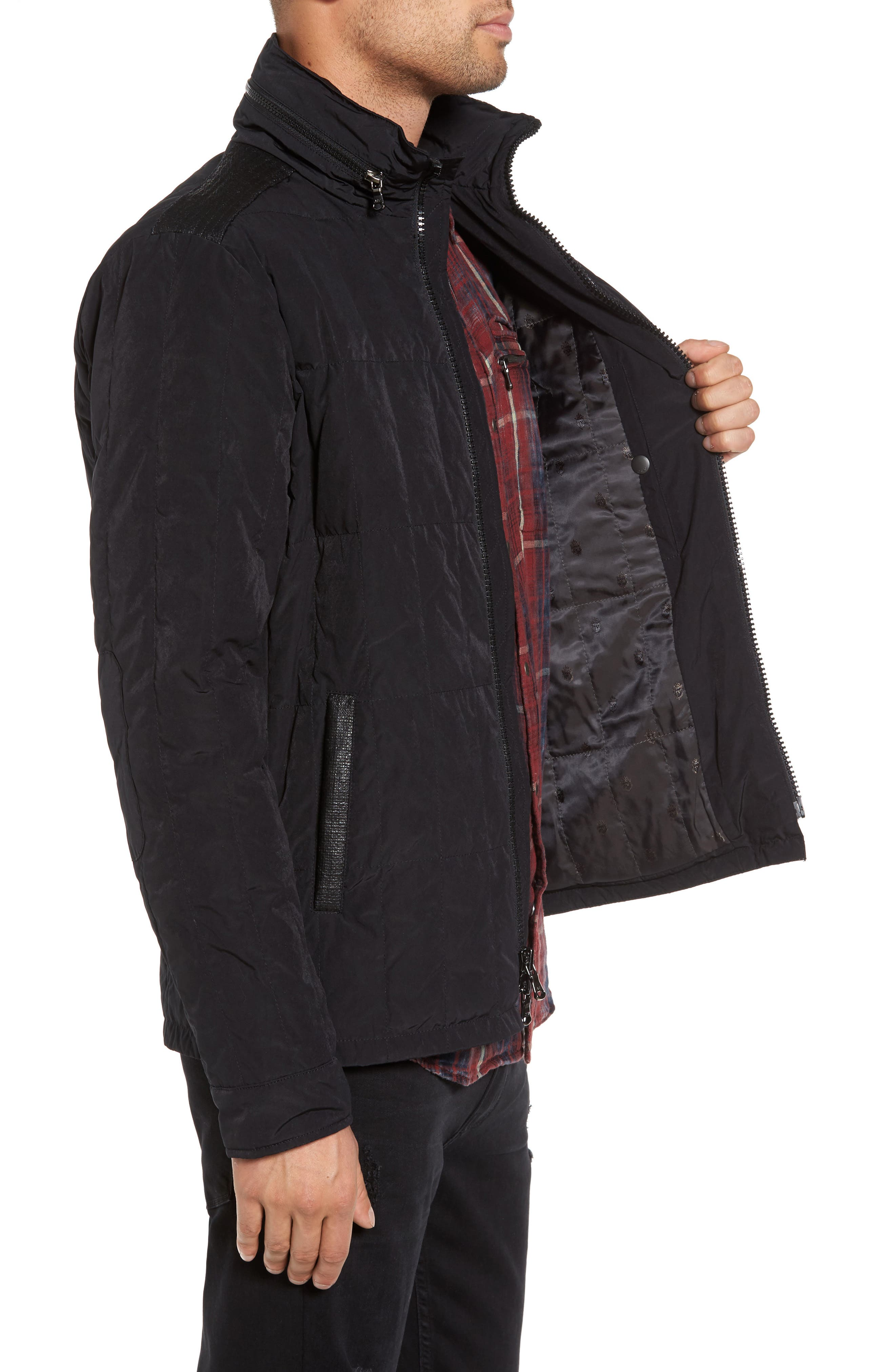 Quilted Down Jacket,                             Alternate thumbnail 5, color,