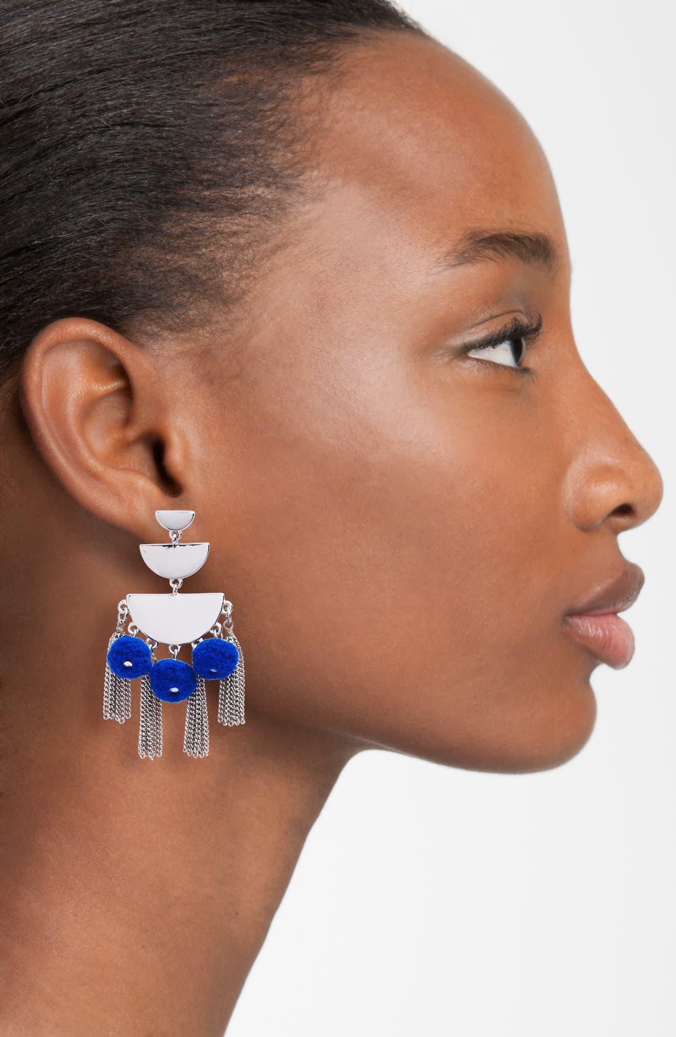 Triple Tier Chandelier Earrings,                             Alternate thumbnail 2, color,                             400