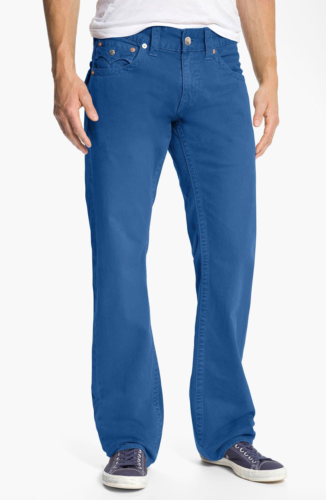 'Ricky' Straight Leg Cotton Twill Pants,                             Alternate thumbnail 10, color,