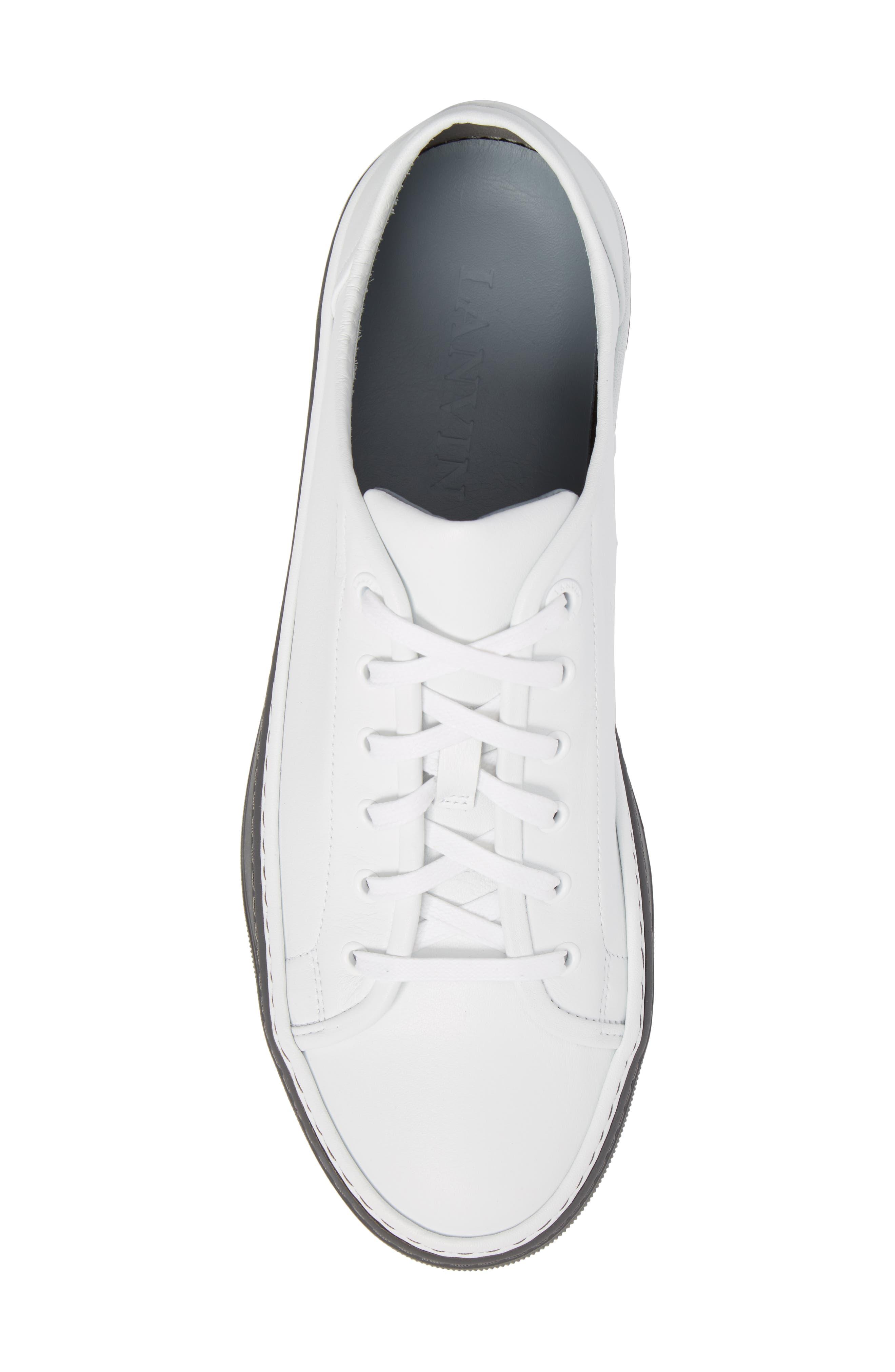 Mini Logo Clean Sneaker,                             Alternate thumbnail 5, color,                             100