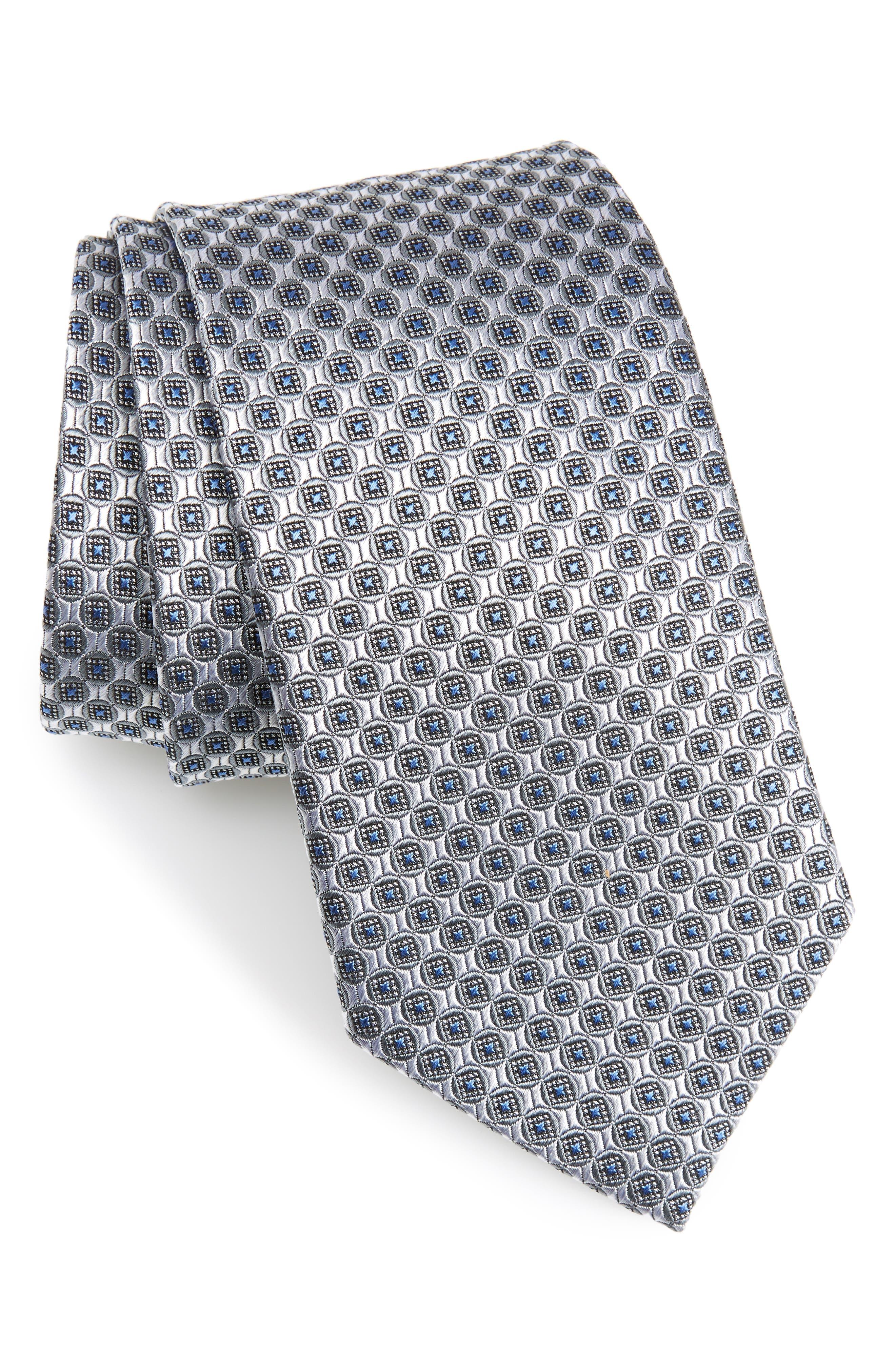 Geometric Silk Tie,                         Main,                         color, 040