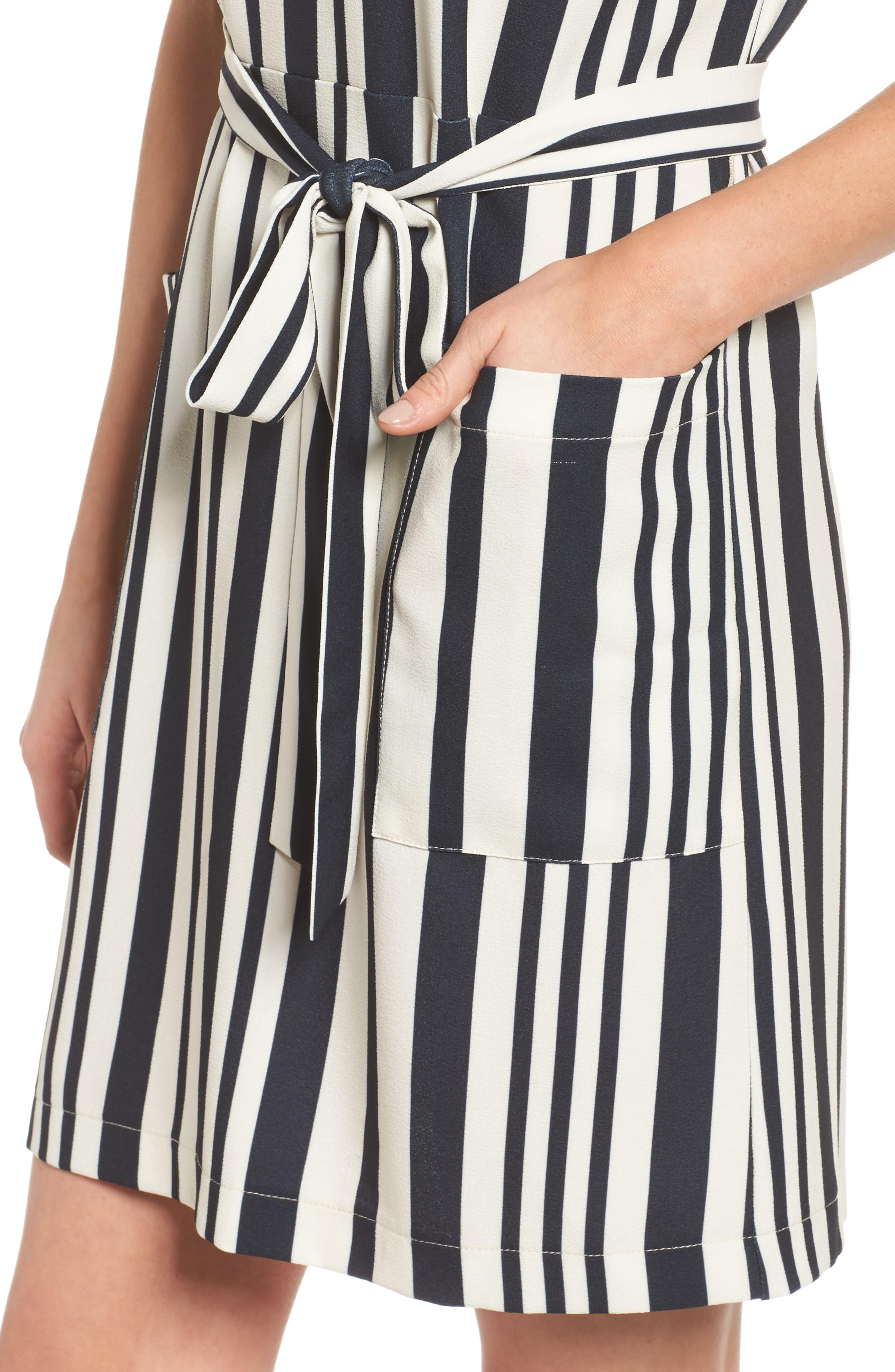 Sterling Stripe Dress,                             Alternate thumbnail 4, color,                             900
