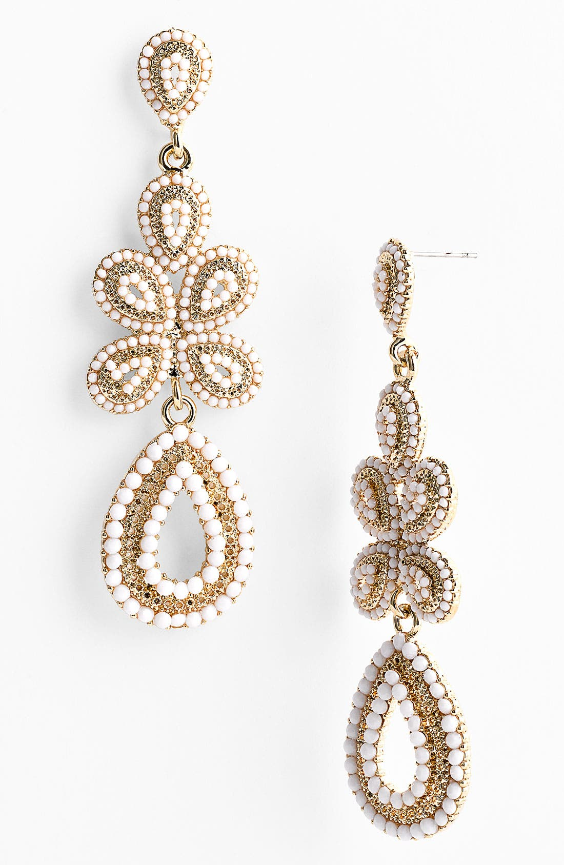 'Ornate' Linear Statement Earrings,                             Main thumbnail 6, color,