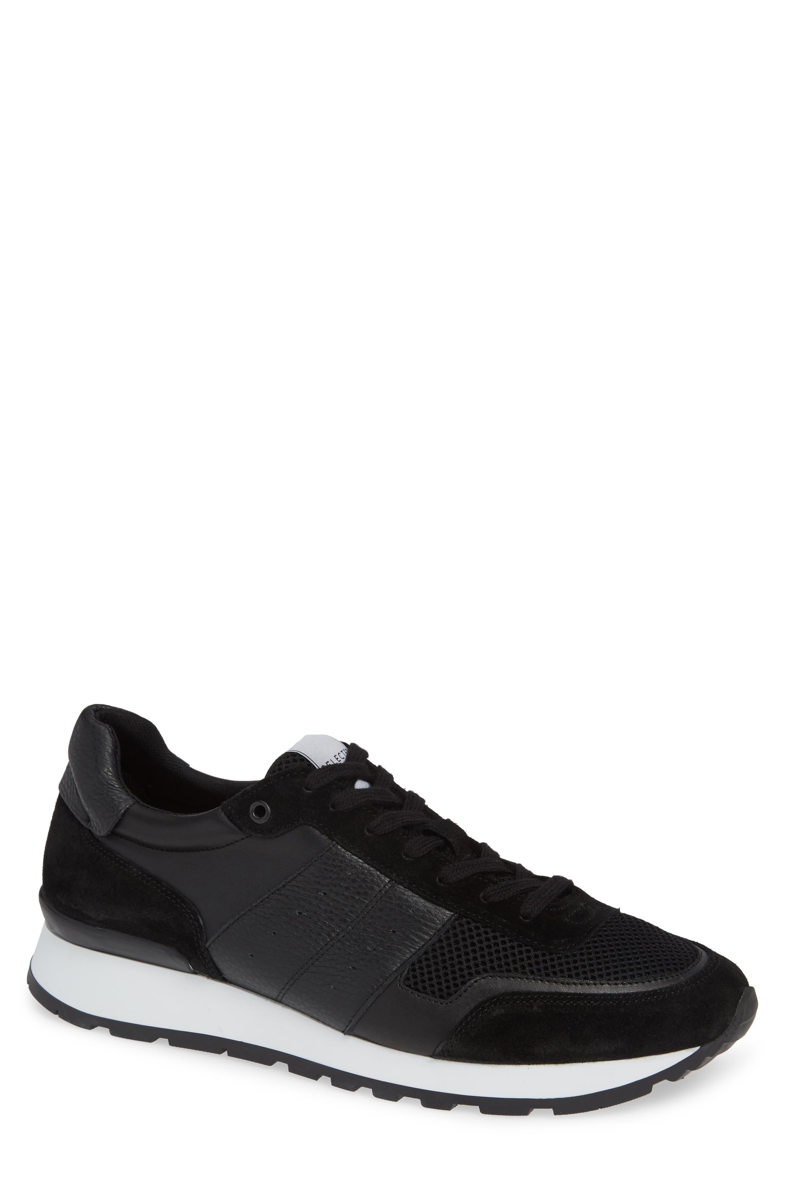 Frank Mix Runner Sneaker,                             Main thumbnail 1, color,                             BLACK