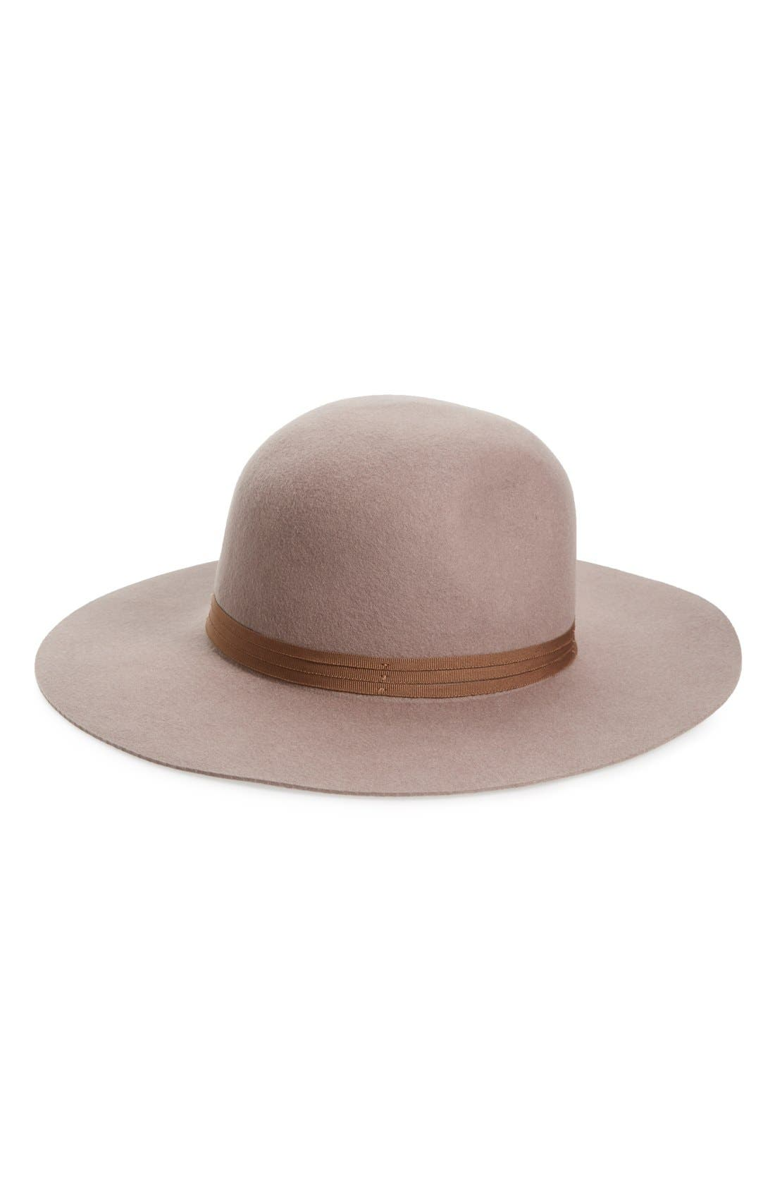 'Magdalena' Wide Brim Wool Felt Hat,                             Main thumbnail 1, color,                             250