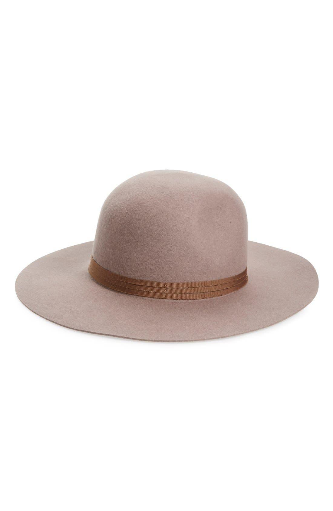 'Magdalena' Wide Brim Wool Felt Hat,                         Main,                         color, 250
