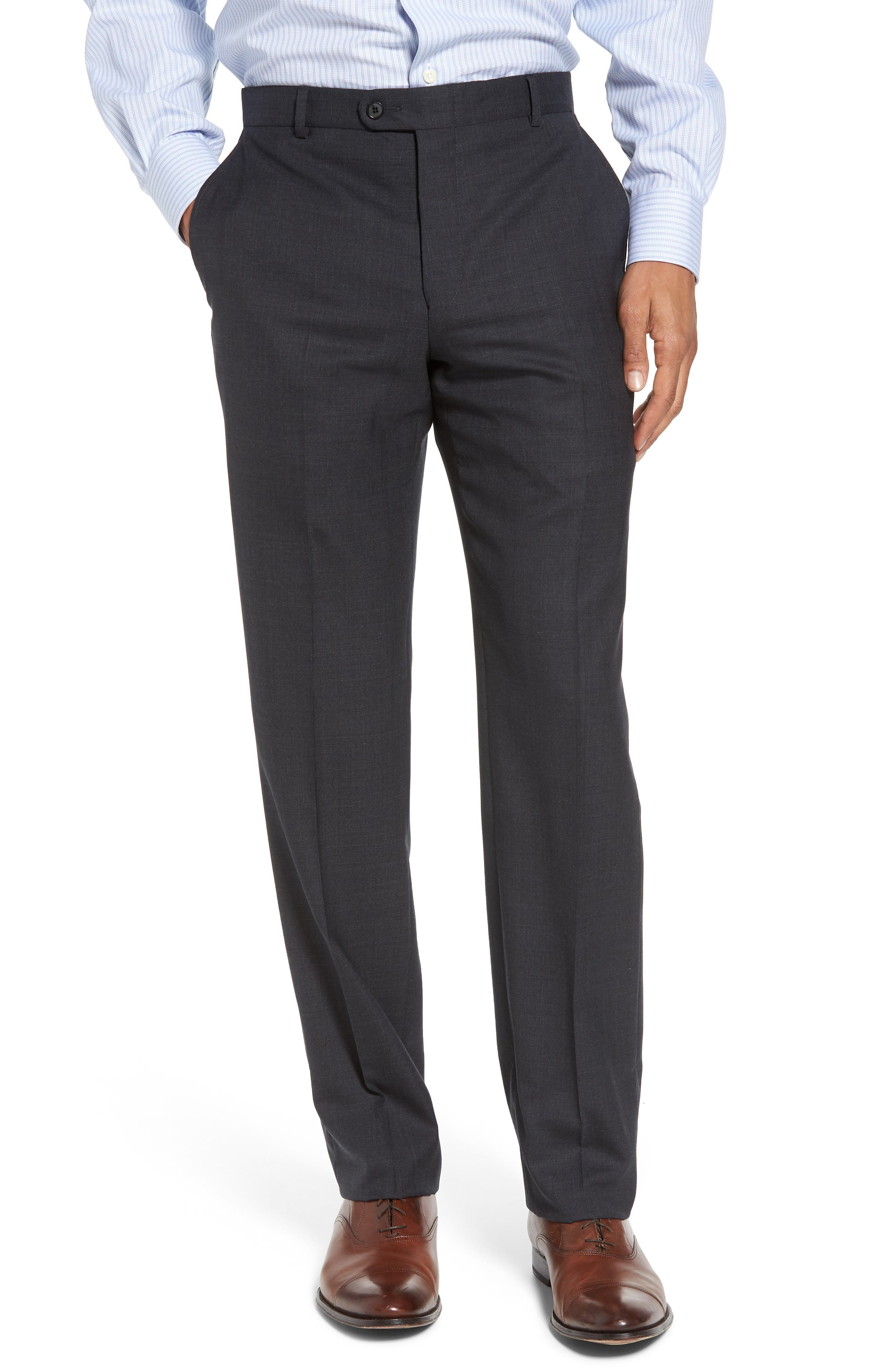 Classic B Fit Check Wool Suit,                             Alternate thumbnail 6, color,                             099