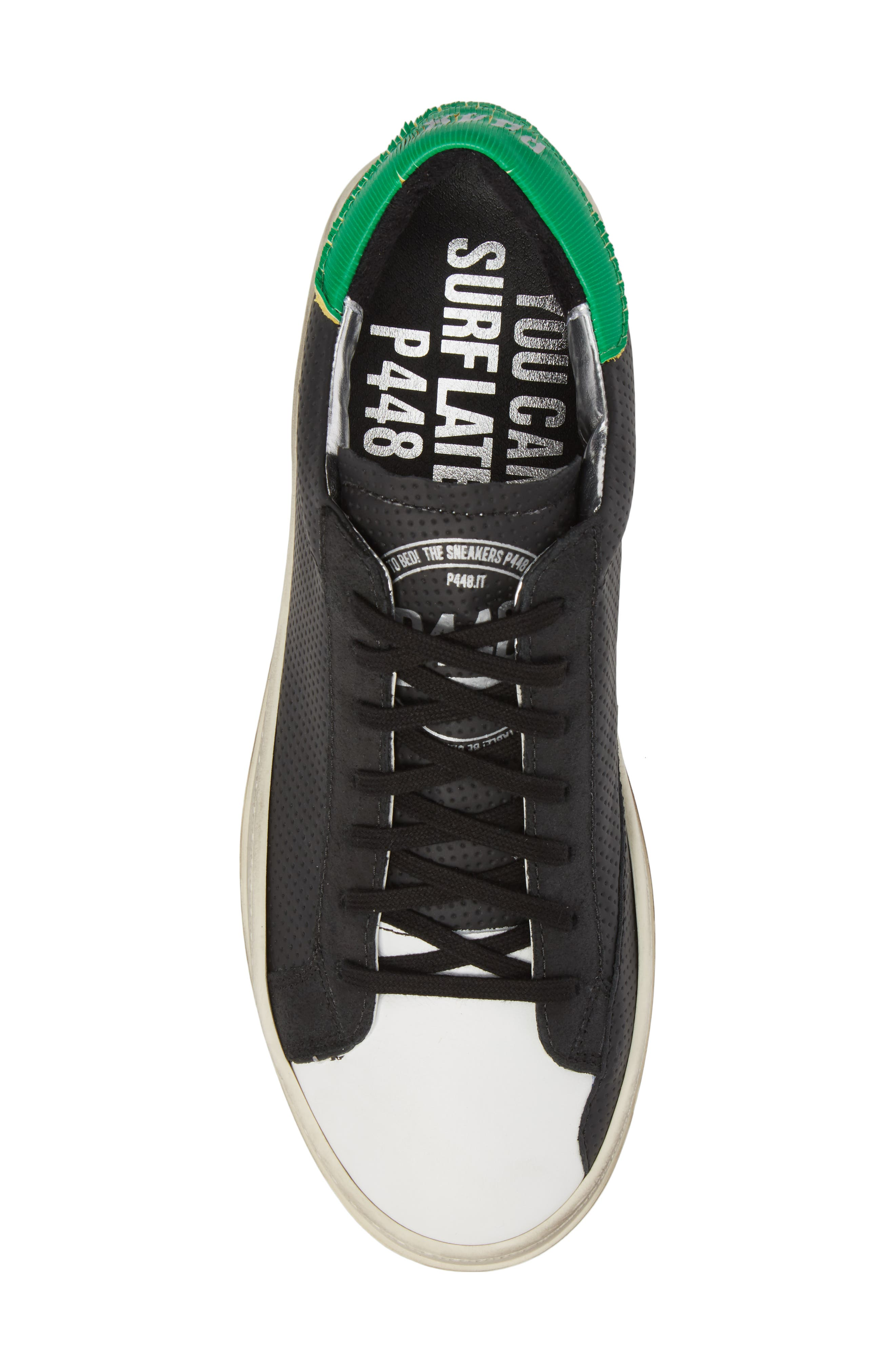 John Low Top Sneaker,                             Alternate thumbnail 5, color,                             BLACK