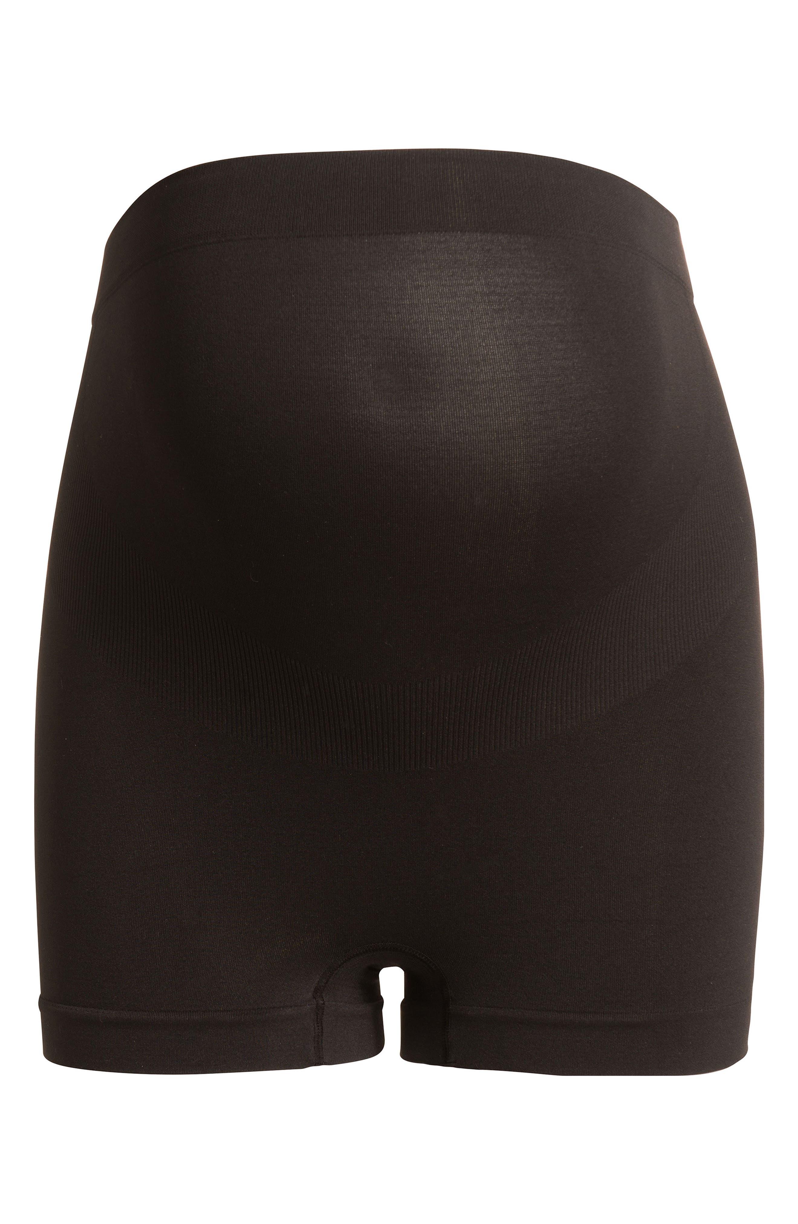 Seamless Maternity Shorts,                         Main,                         color, BLACK
