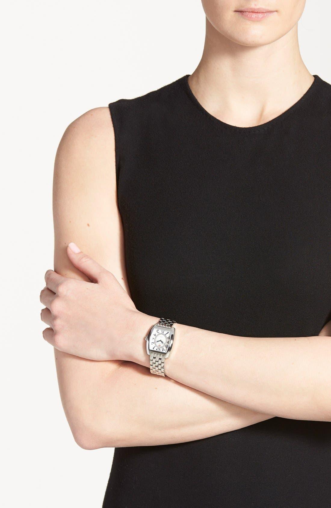 Urban Mini Diamond Dial Watch Case, 29mm x 30mm,                             Alternate thumbnail 3, color,                             SILVER/ SILVER