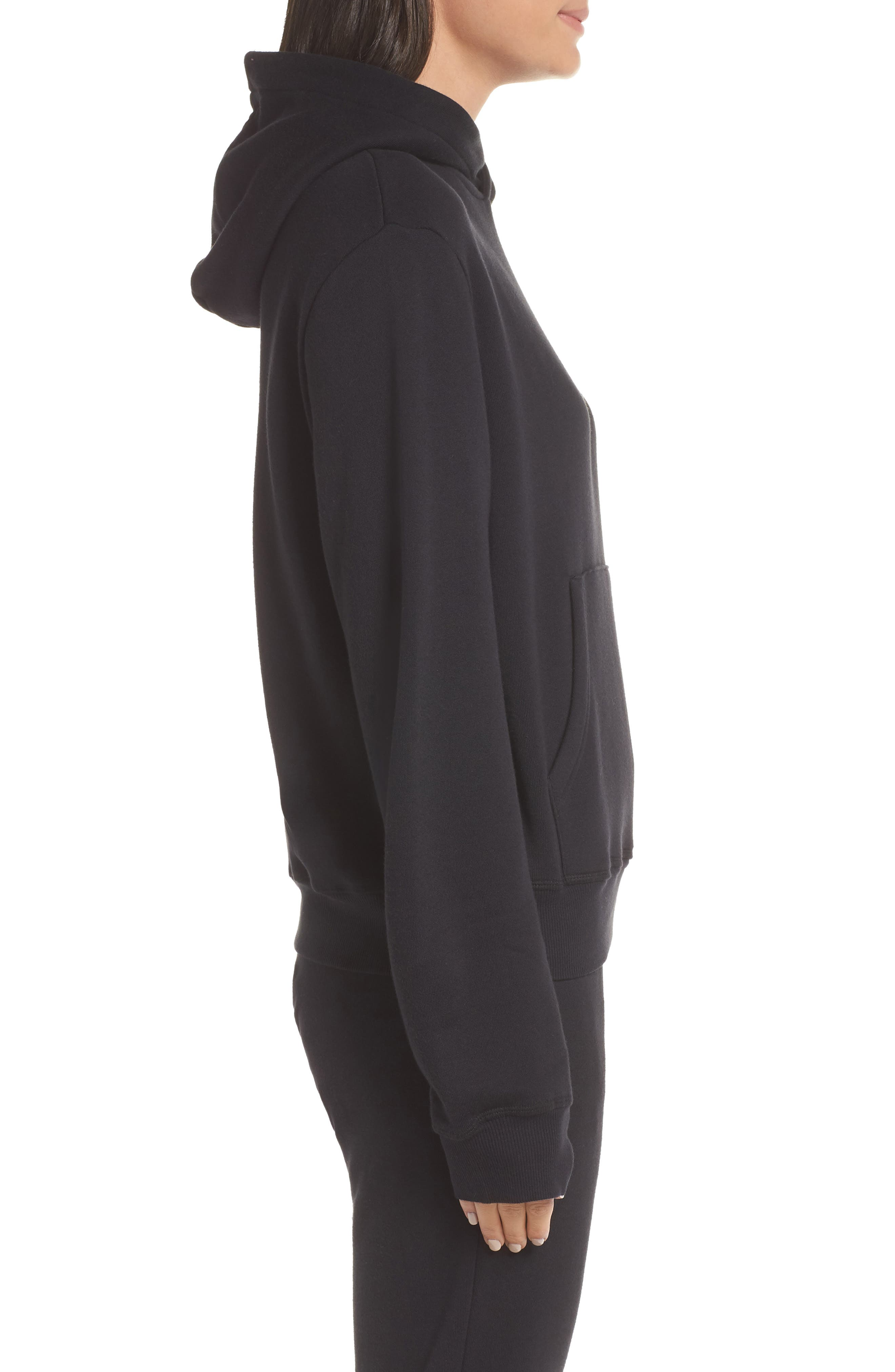 Hoodie Sweatshirt,                             Alternate thumbnail 3, color,                             BLACK