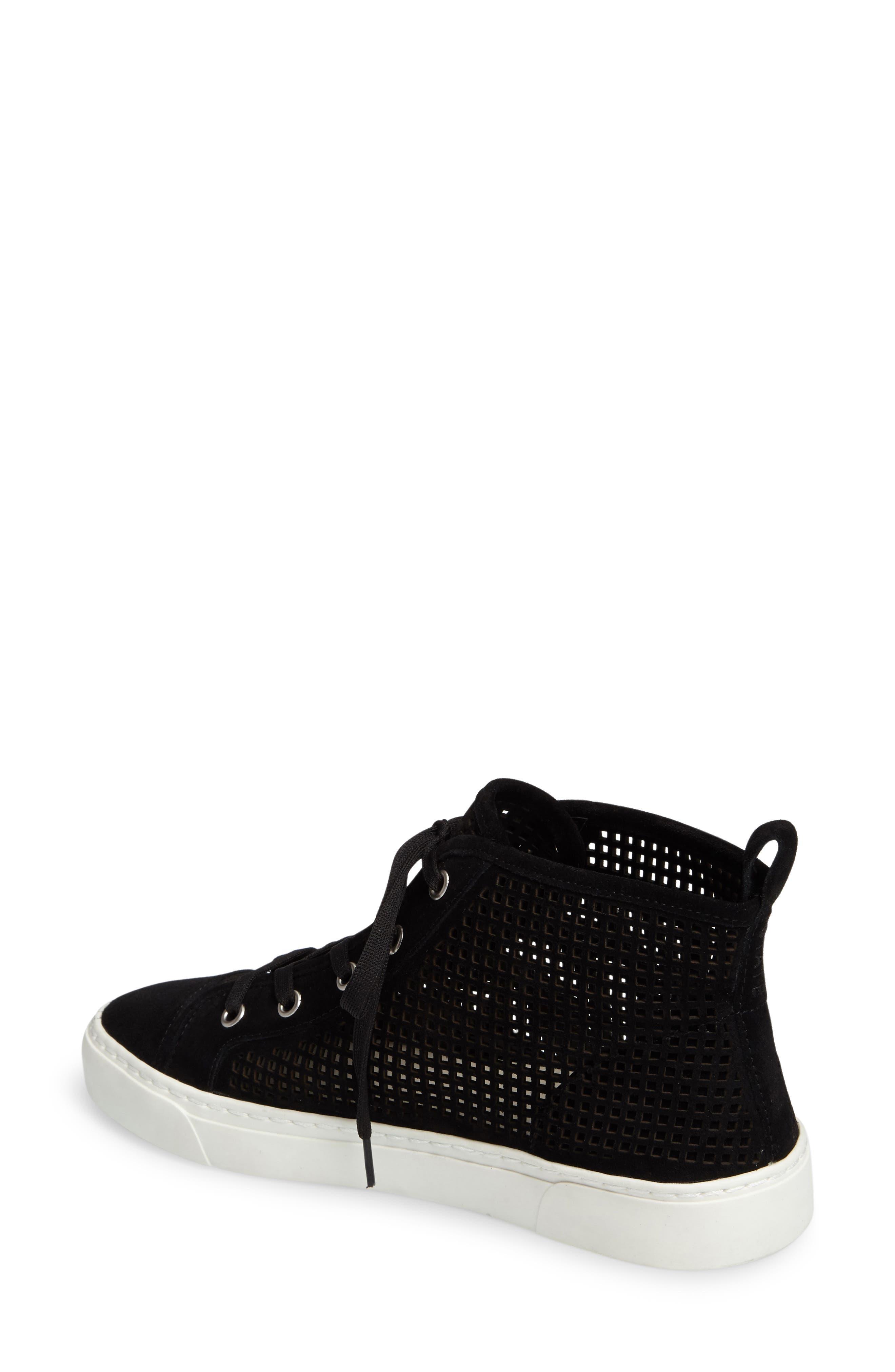 Dulcia Perforated High-Top Sneaker,                             Alternate thumbnail 2, color,                             001