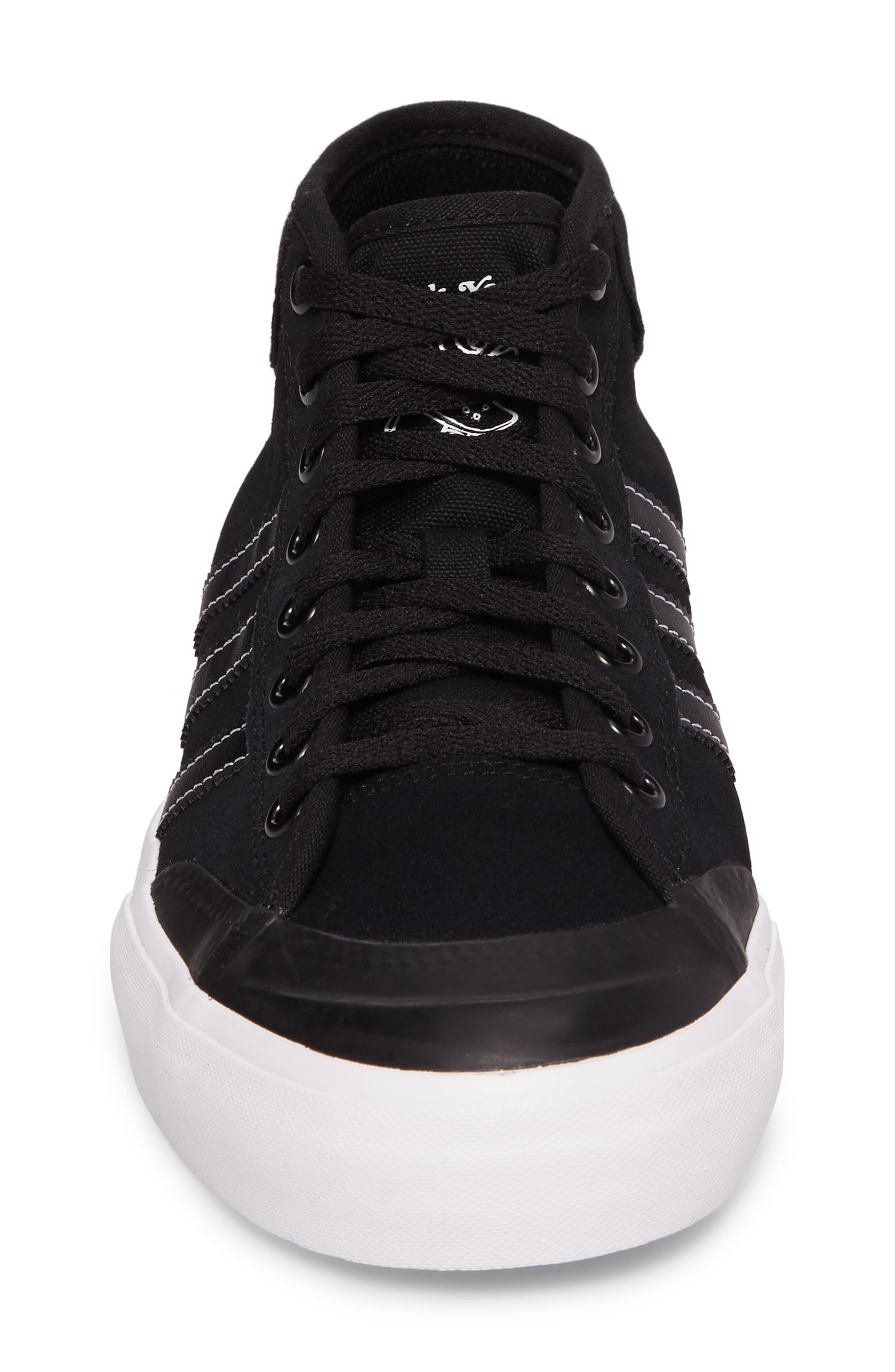 Matchcourt Mid ADV Sneaker,                             Alternate thumbnail 4, color,                             001