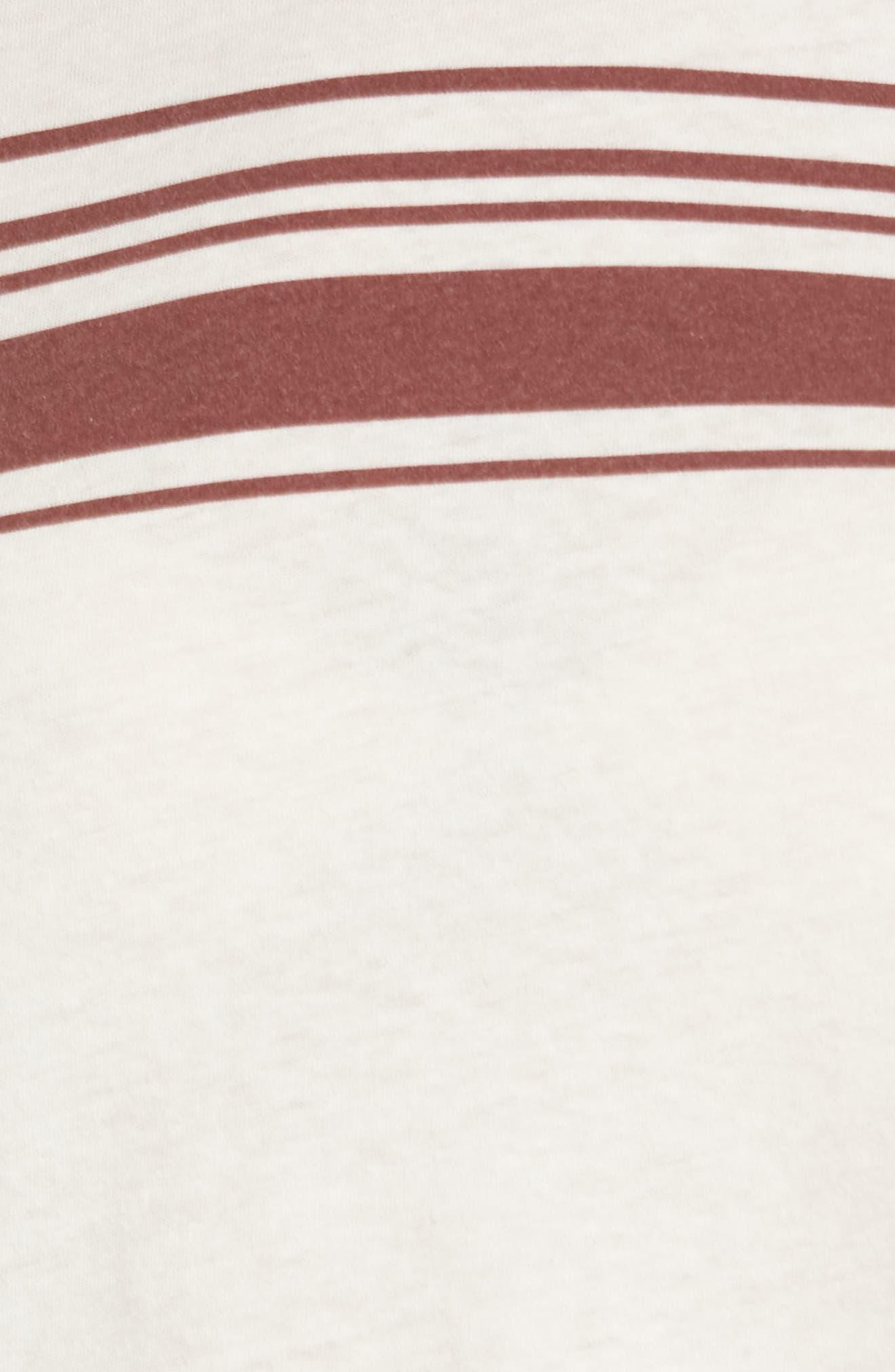 Stripe Ringer Tee,                             Alternate thumbnail 5, color,                             198