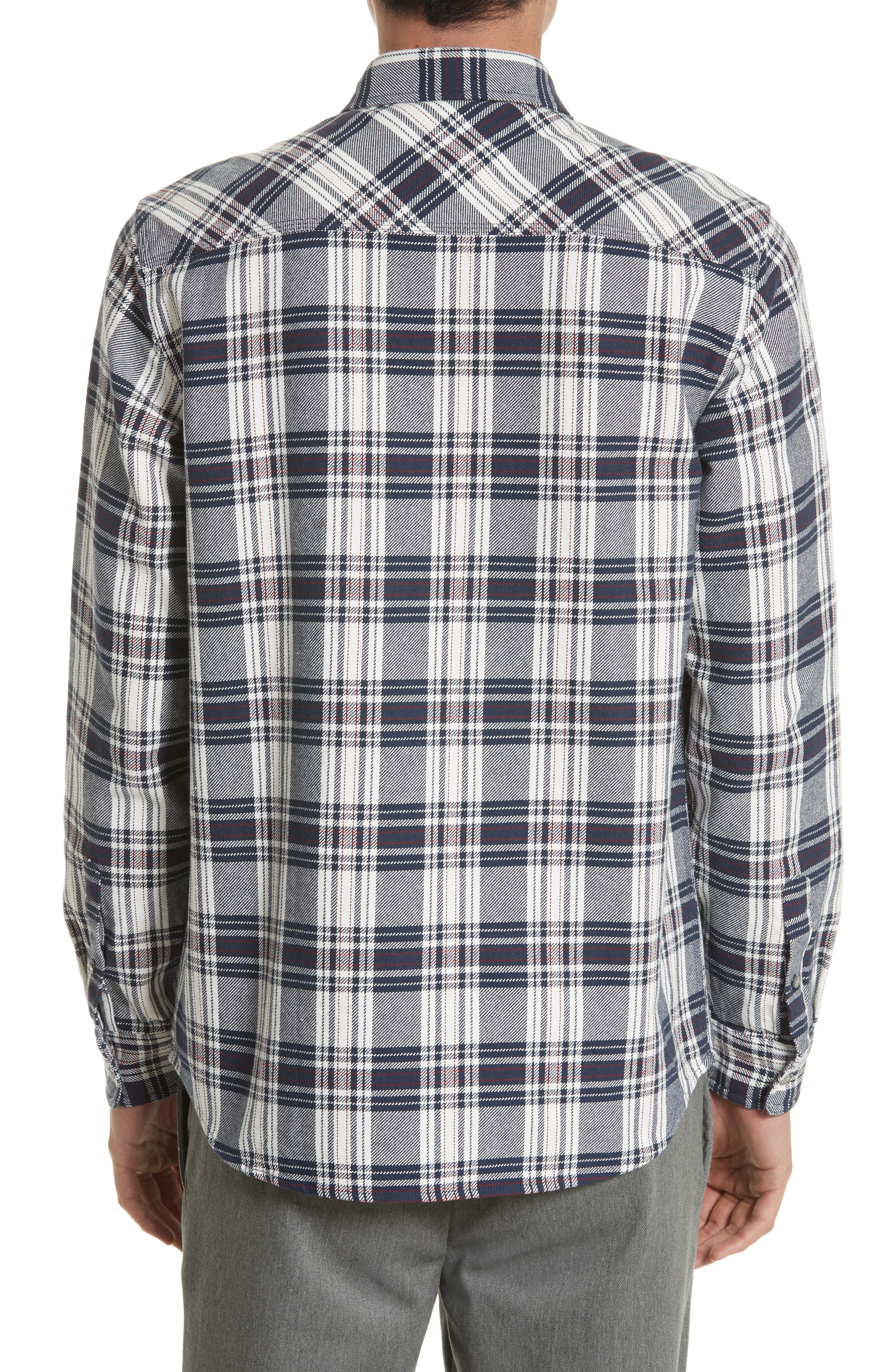Twill Flannel Shirt,                             Alternate thumbnail 2, color,                             110