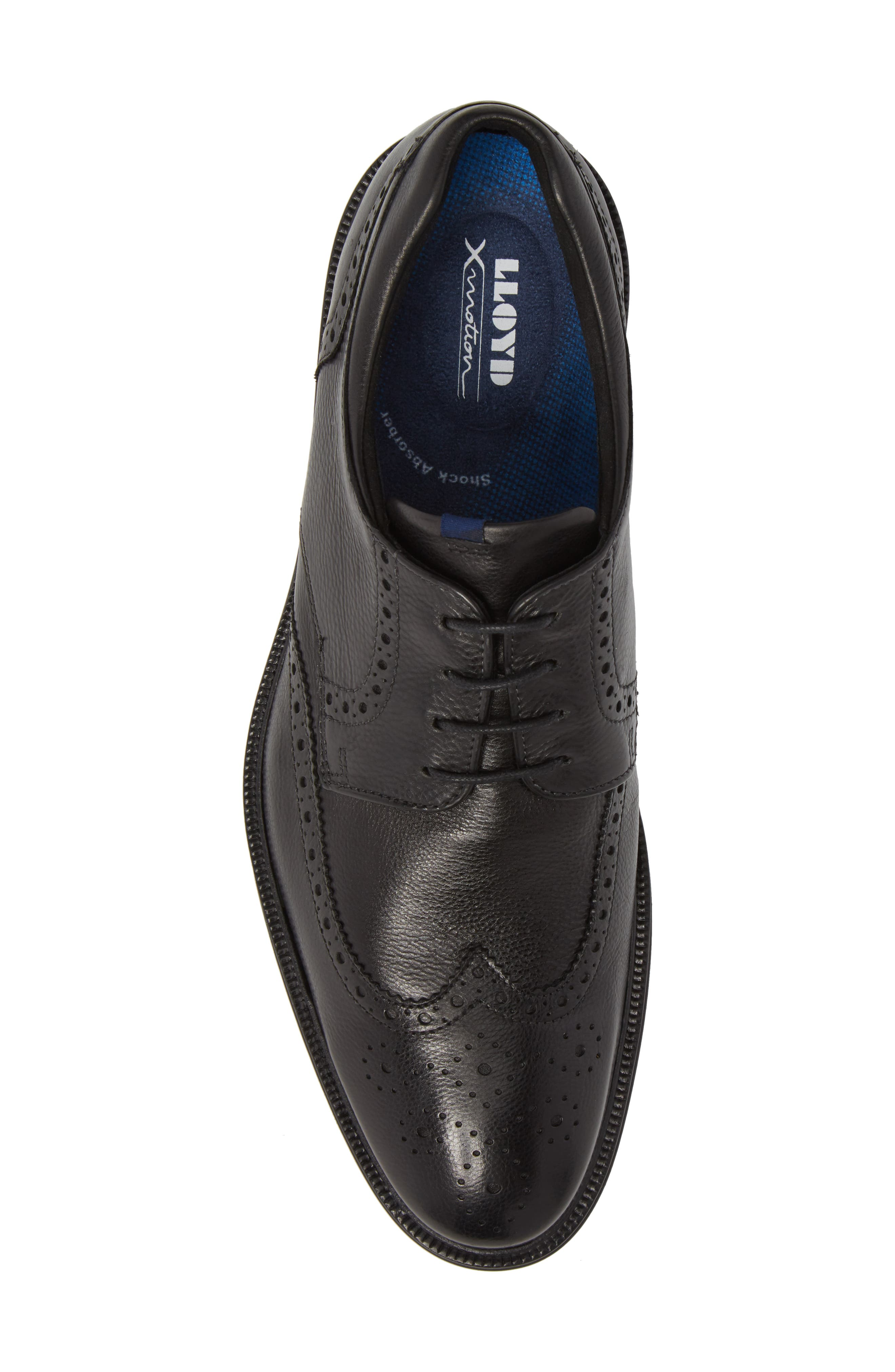 Marian Wingtip,                             Alternate thumbnail 5, color,                             BLACK LEATHER