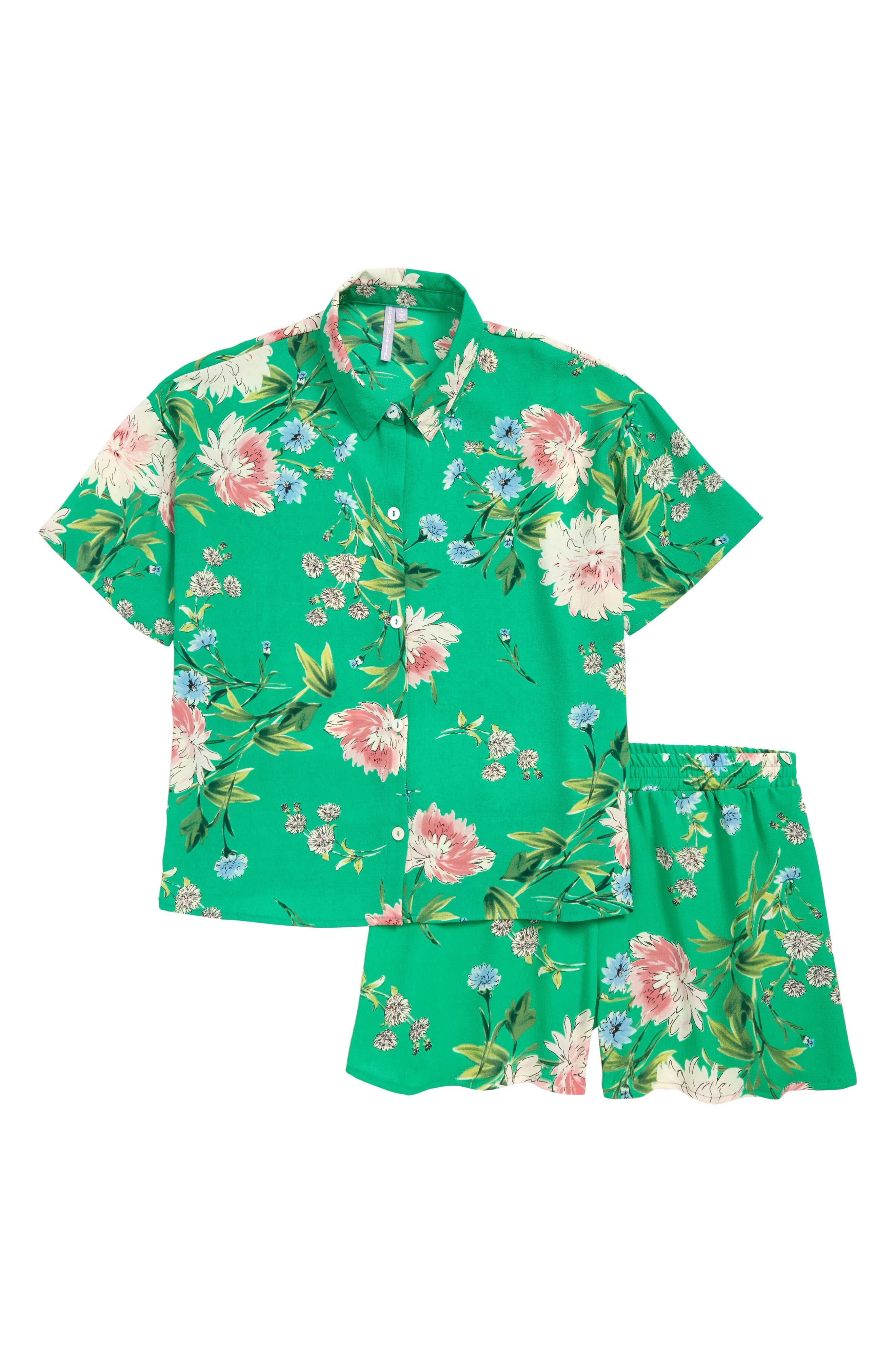 Girls Good Luck Girl Camp Shirt  Shorts Set