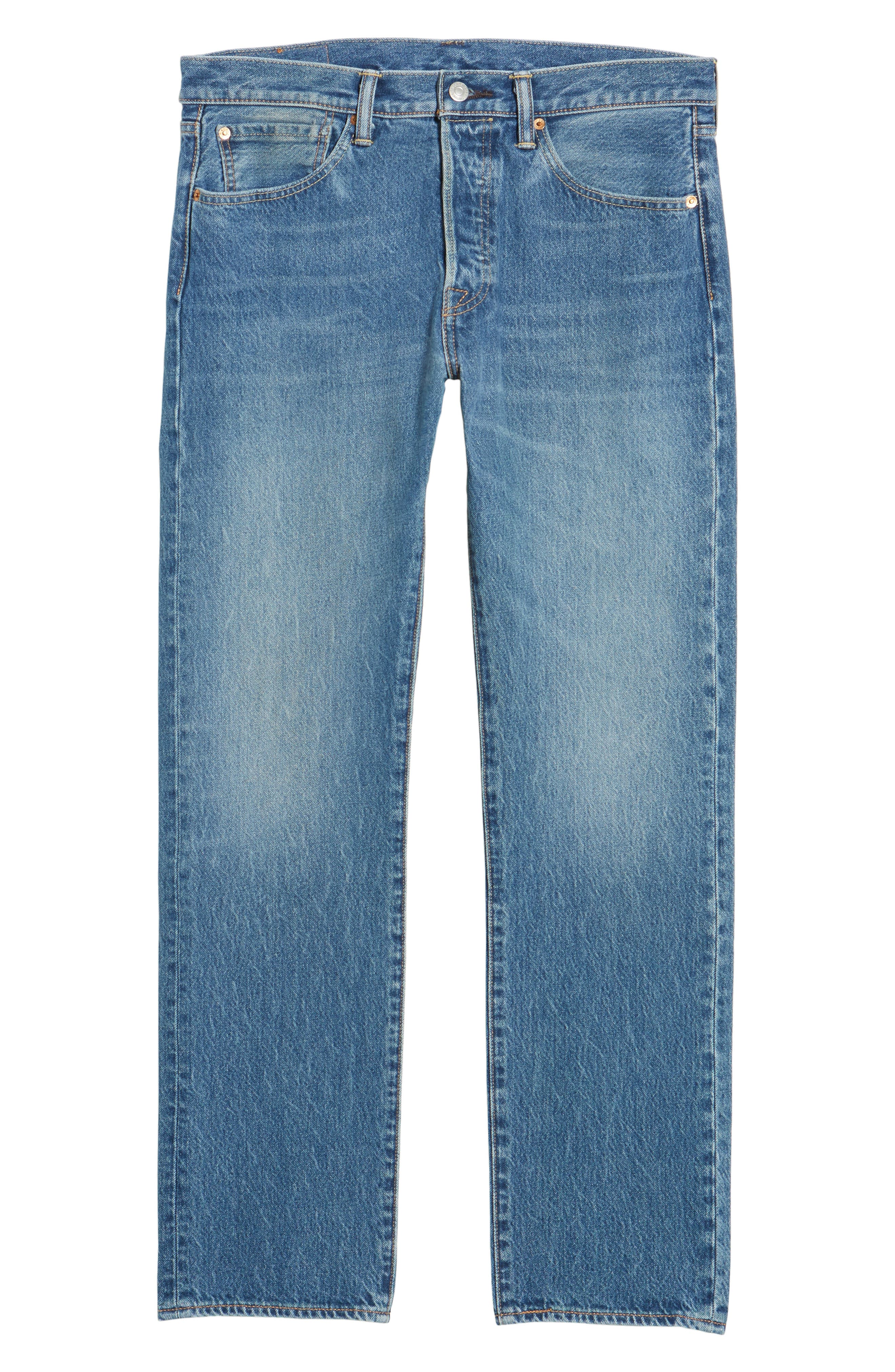 501<sup>™</sup> Straight Leg Jeans,                             Alternate thumbnail 6, color,