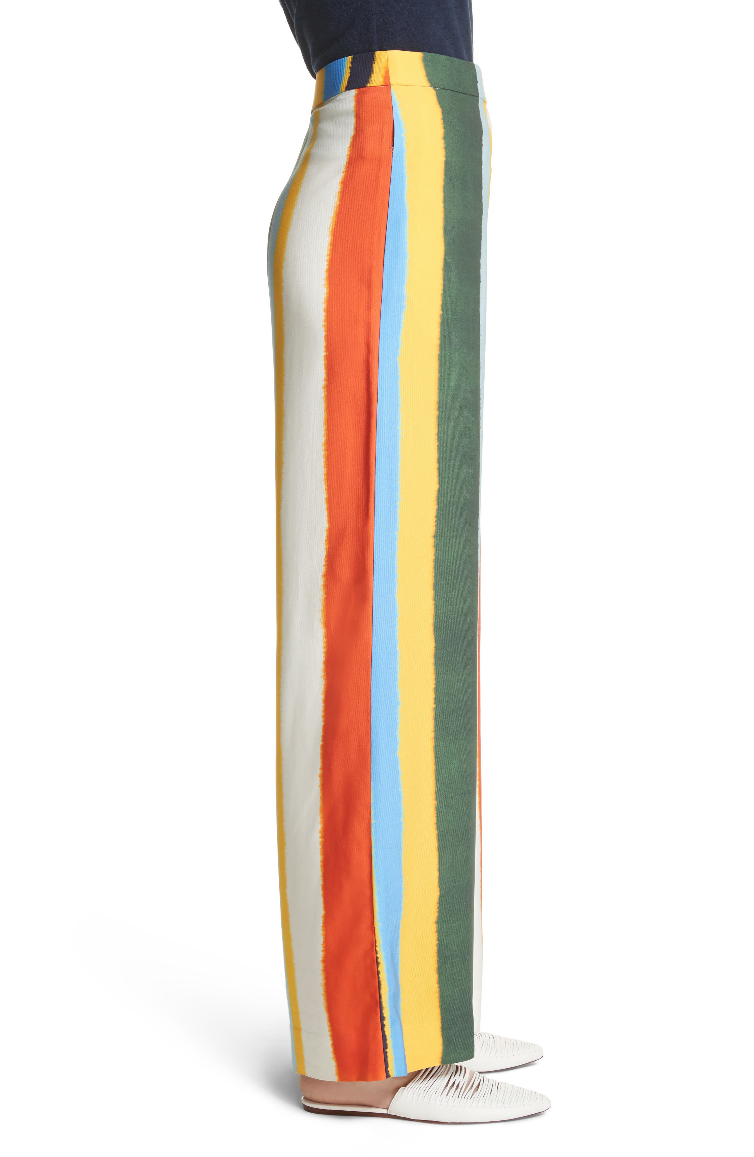Fiona Stripe Wide Leg Pants,                             Alternate thumbnail 3, color,                             108
