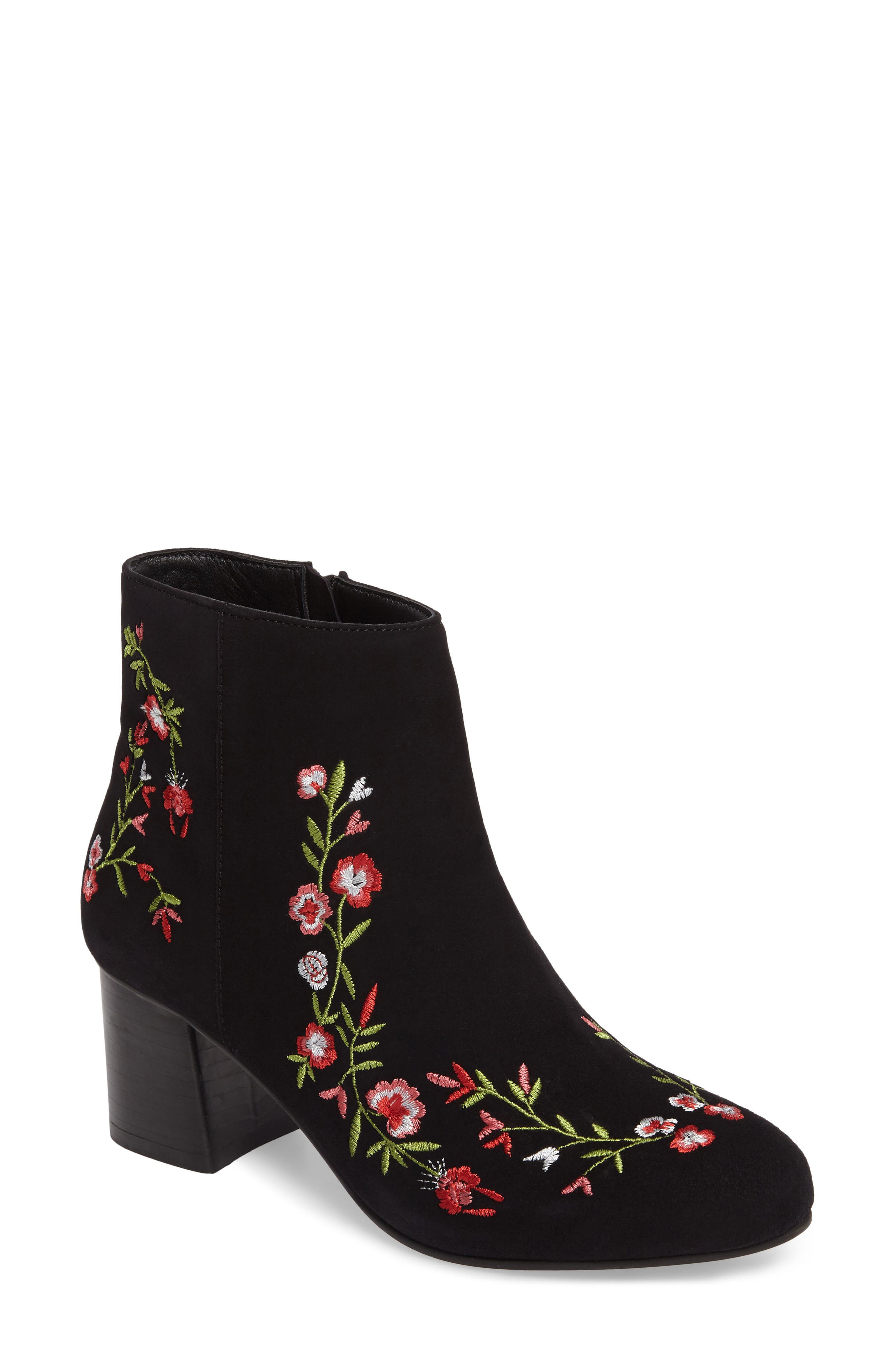 Veronaa Embroidered Bootie,                             Main thumbnail 1, color,                             003