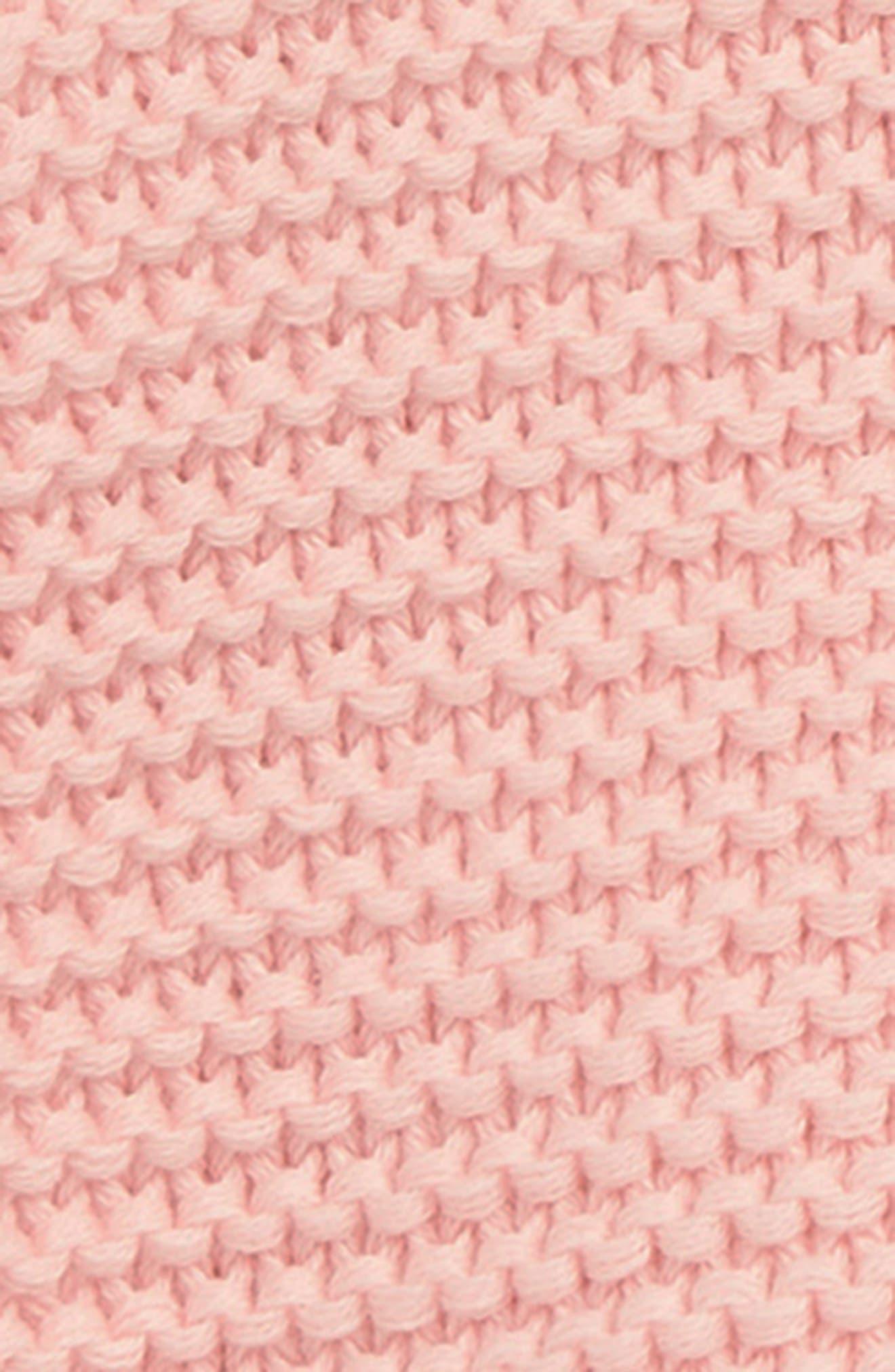 NORDSTROM BABY,                             Lofty Organic Cotton Hooded Cardigan,                             Alternate thumbnail 2, color,                             PINK SEASHELL