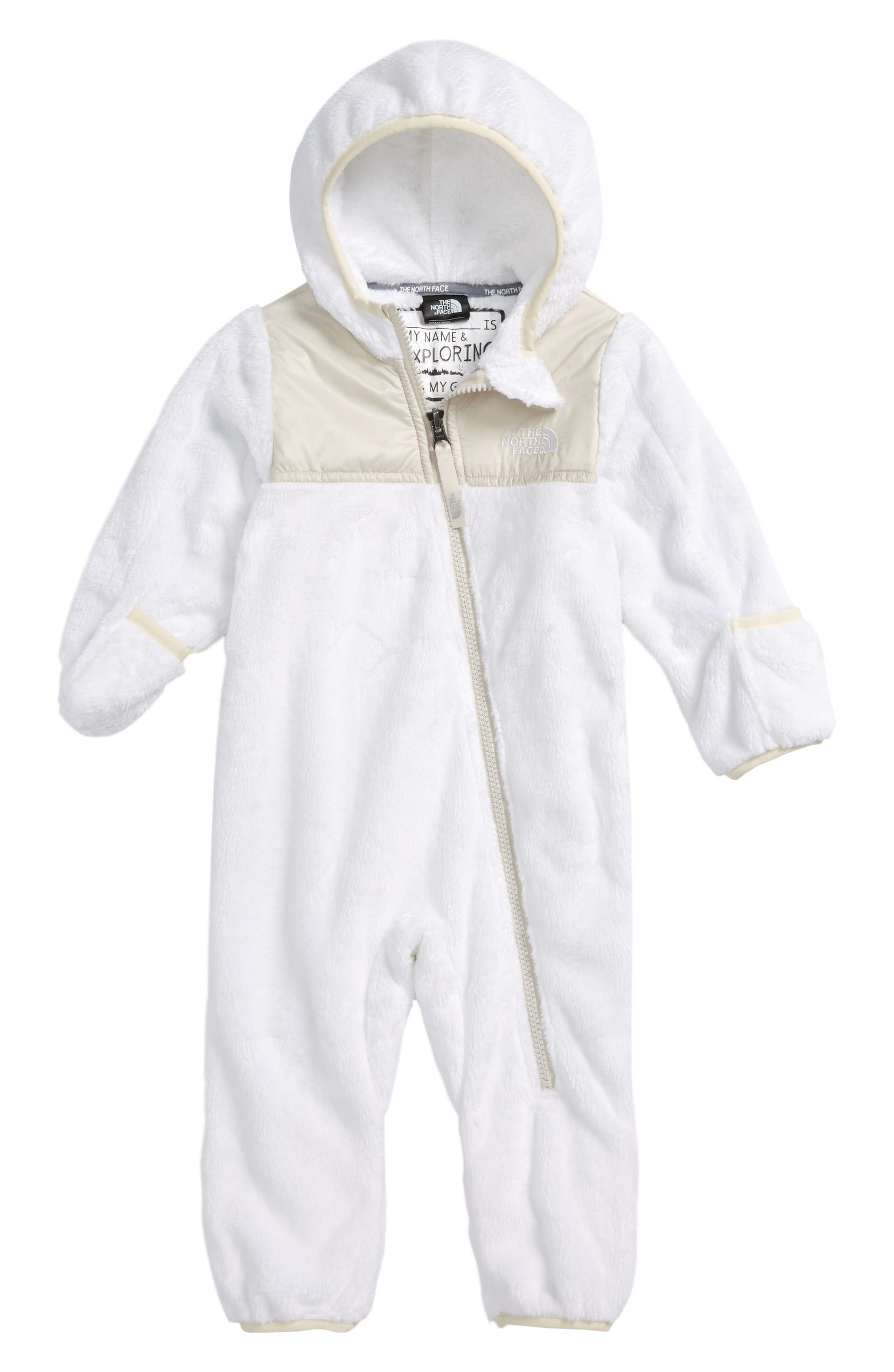 The North Face Oso Hooded Fleece Romper (Baby)  a3ed1e01d