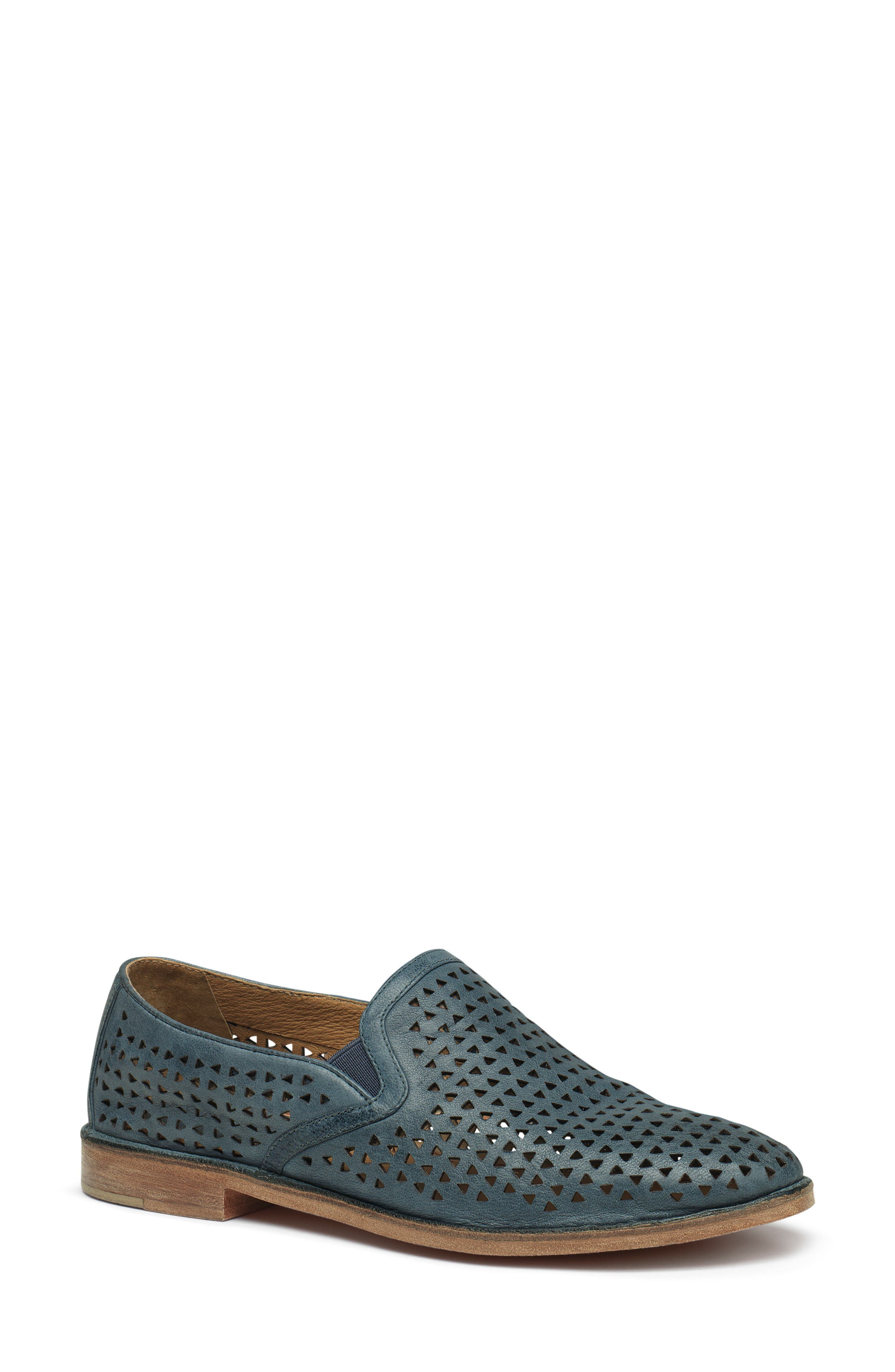Trask Ali Perforated Loafer, Blue