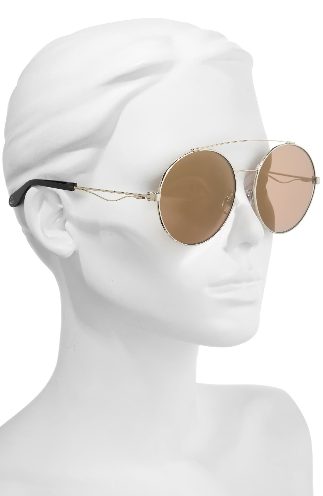 62mm Oversize Round Sunglasses,                             Alternate thumbnail 2, color,                             LIGHT GOLD