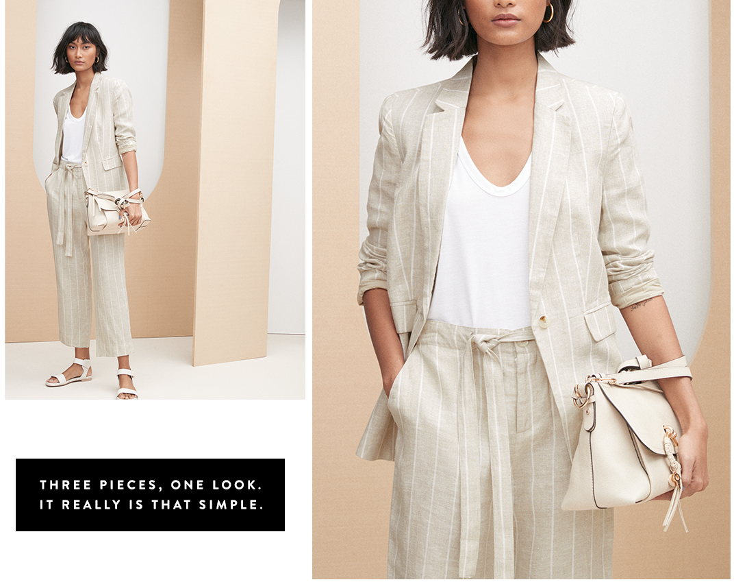 Easy As… Three pieces, one look.