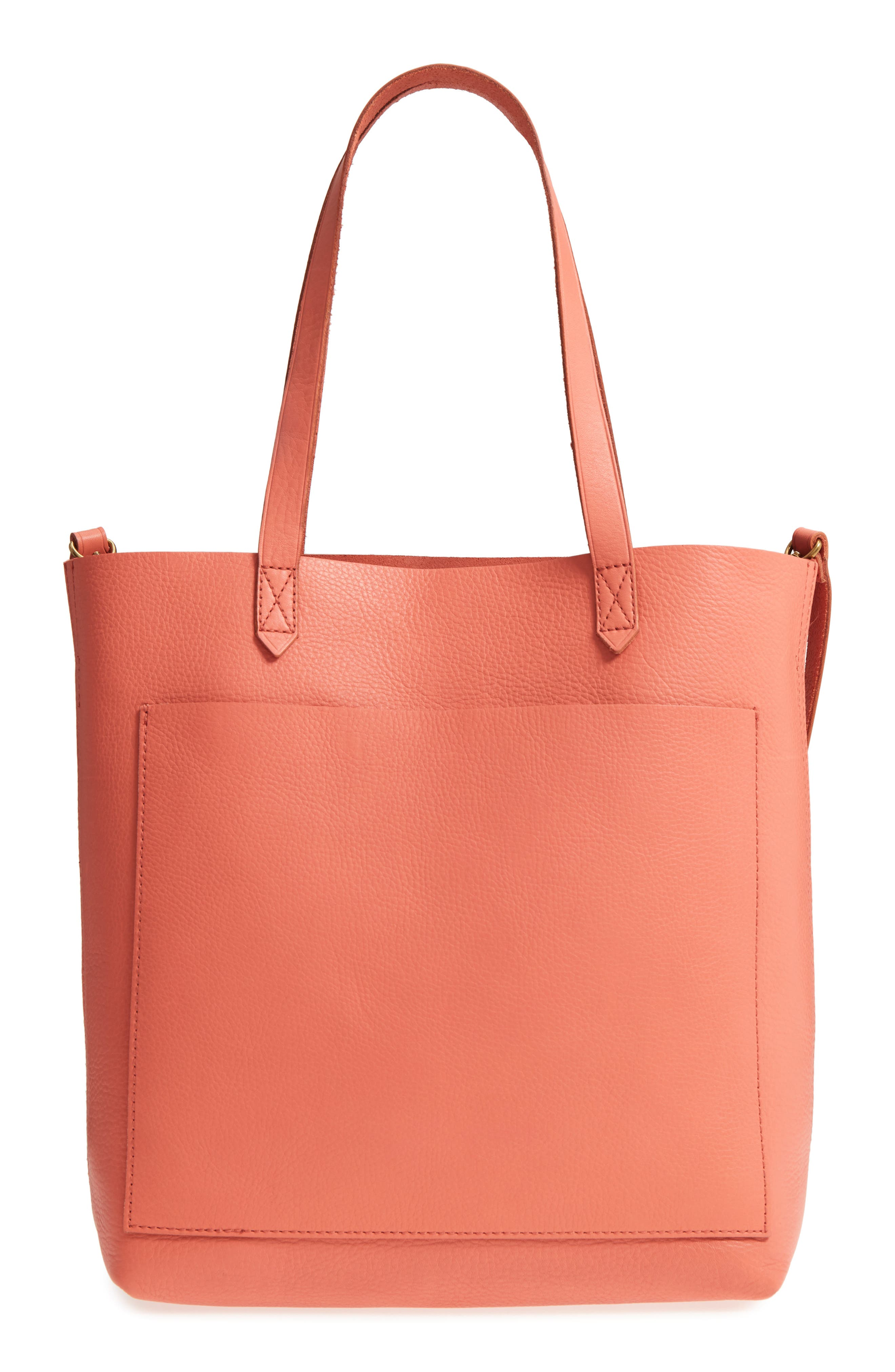 Medium Leather Transport Tote,                             Main thumbnail 9, color,
