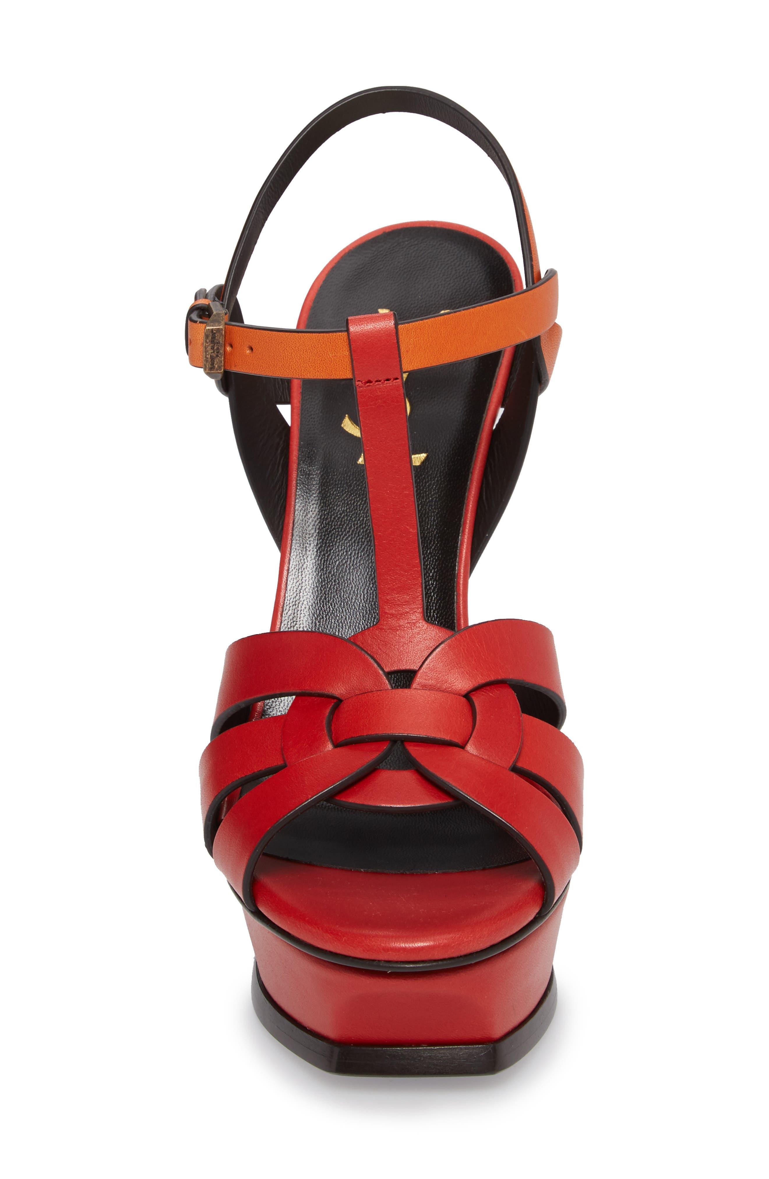 Tribute T-Strap Platform Sandal,                             Alternate thumbnail 4, color,                             640
