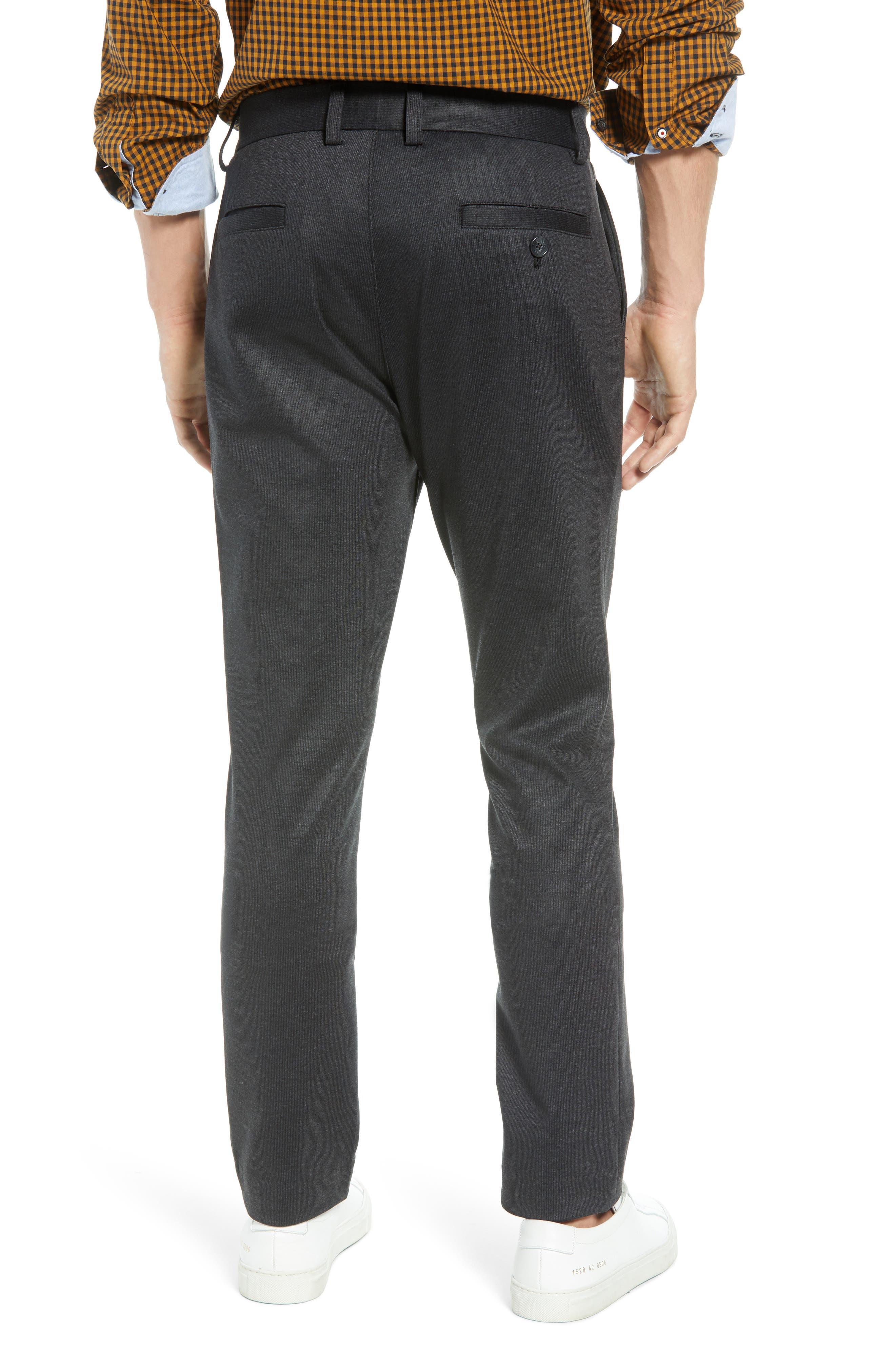 Slim Fit Ponte Knit Trousers,                             Alternate thumbnail 2, color,                             020