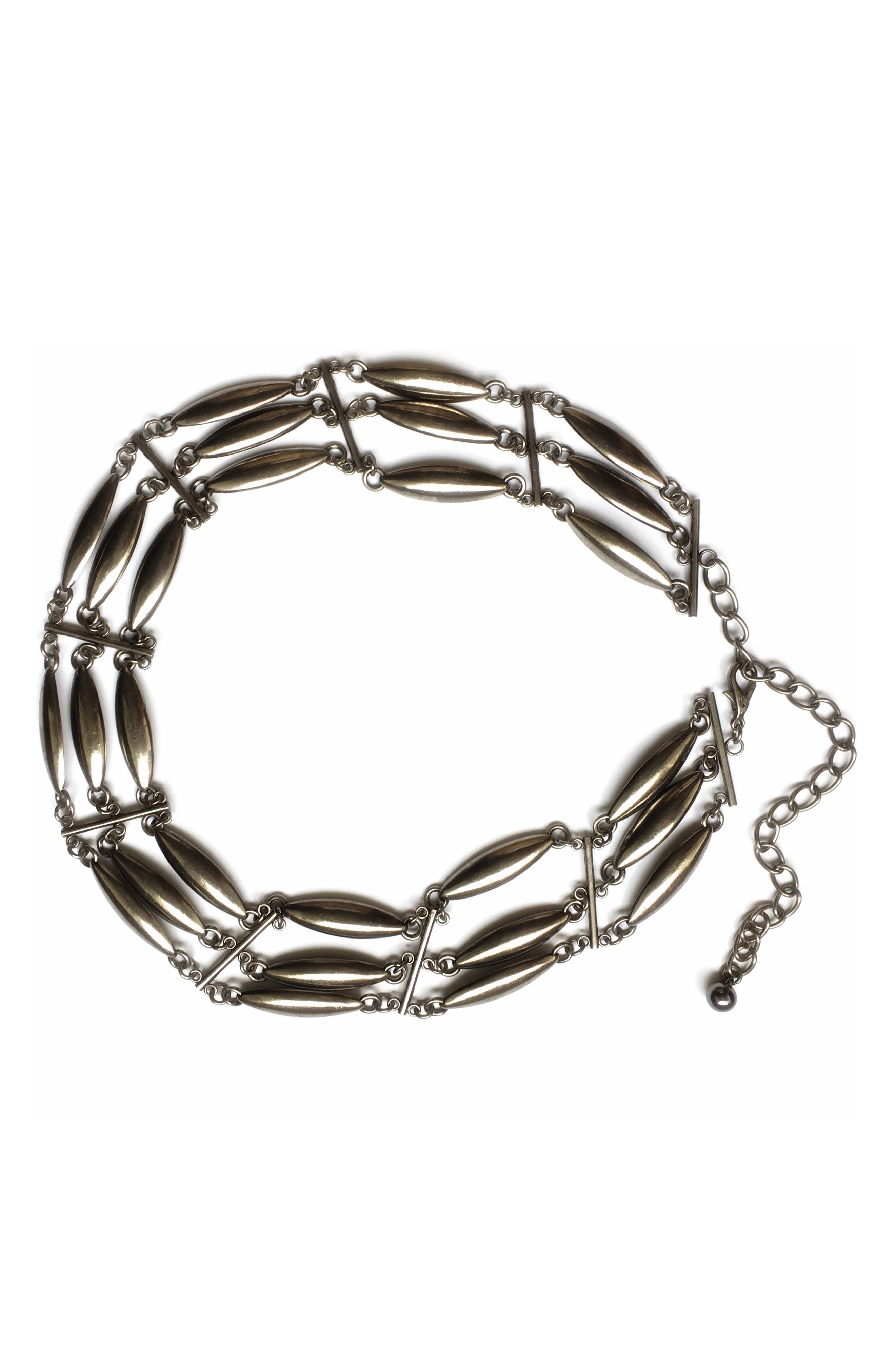 Amor Multi Chain Belt,                         Main,                         color, SILVER