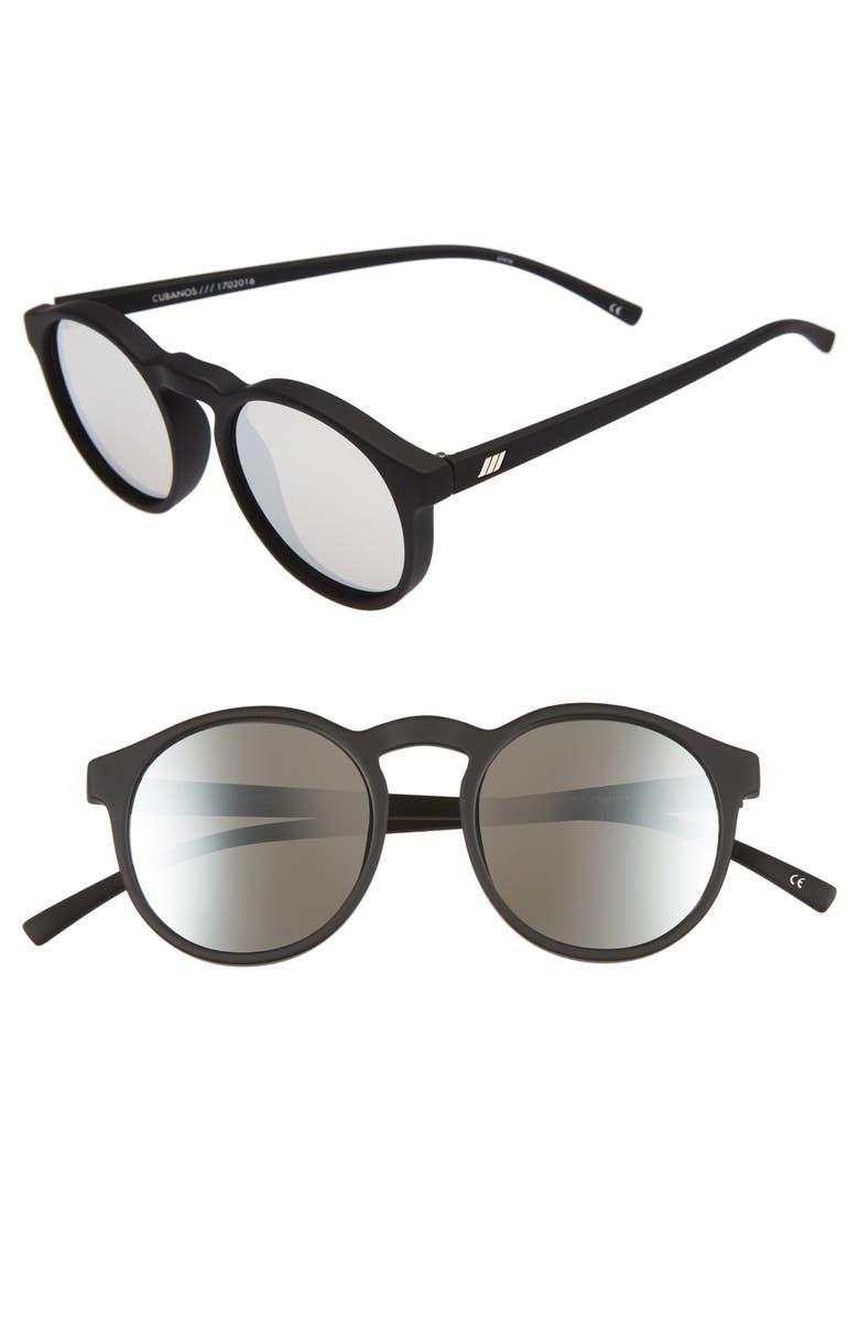 e7849491cd0 Le Specs Cubanos 47mm Round Sunglasses