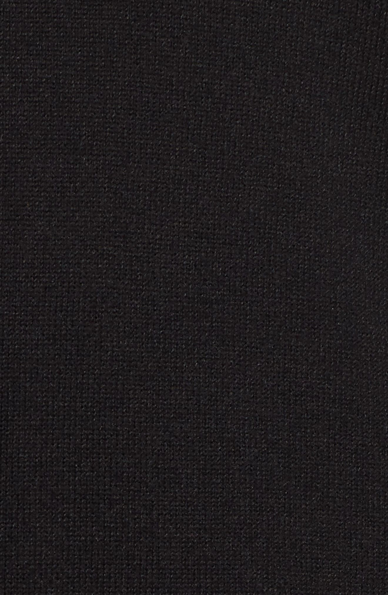 Side Slit Sweater,                             Alternate thumbnail 6, color,                             001