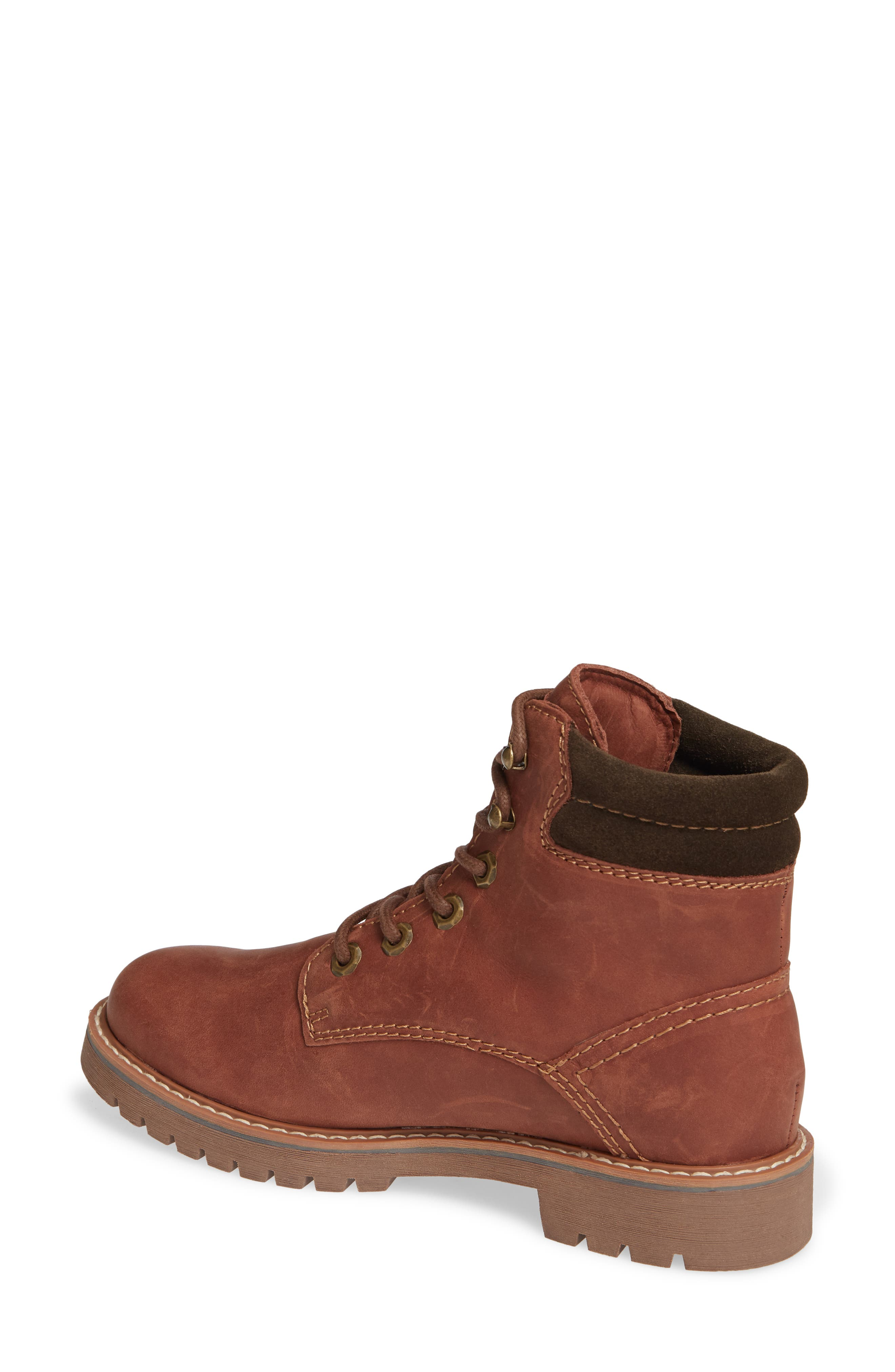 Heston Waterproof Insulated Hiking Boot,                             Alternate thumbnail 2, color,                             BROWN LEATHER