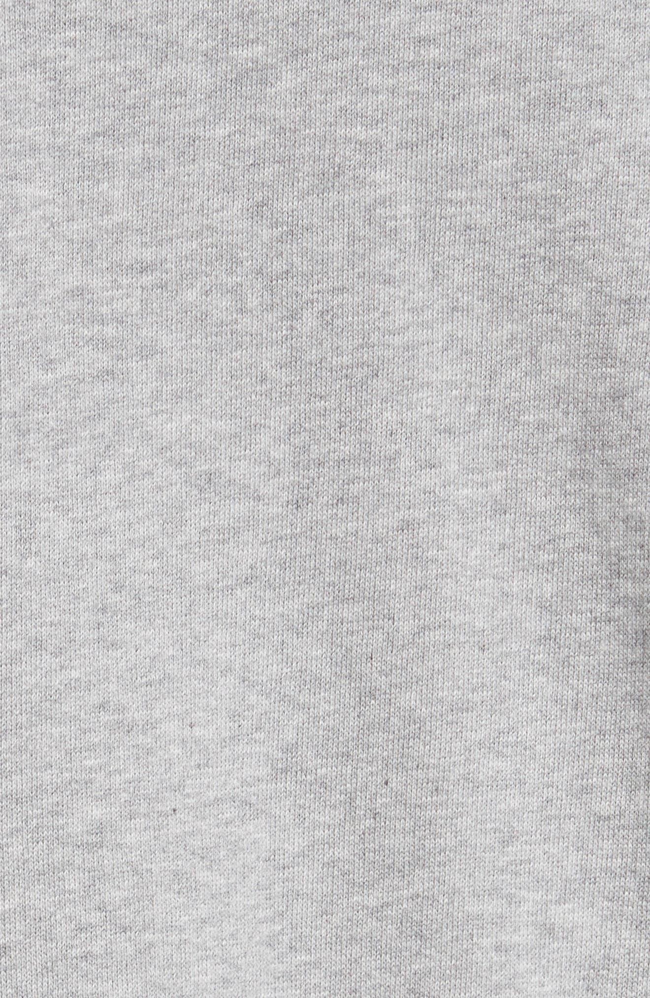 Woman Tape Crop Crewneck Sweater,                             Alternate thumbnail 5, color,                             020