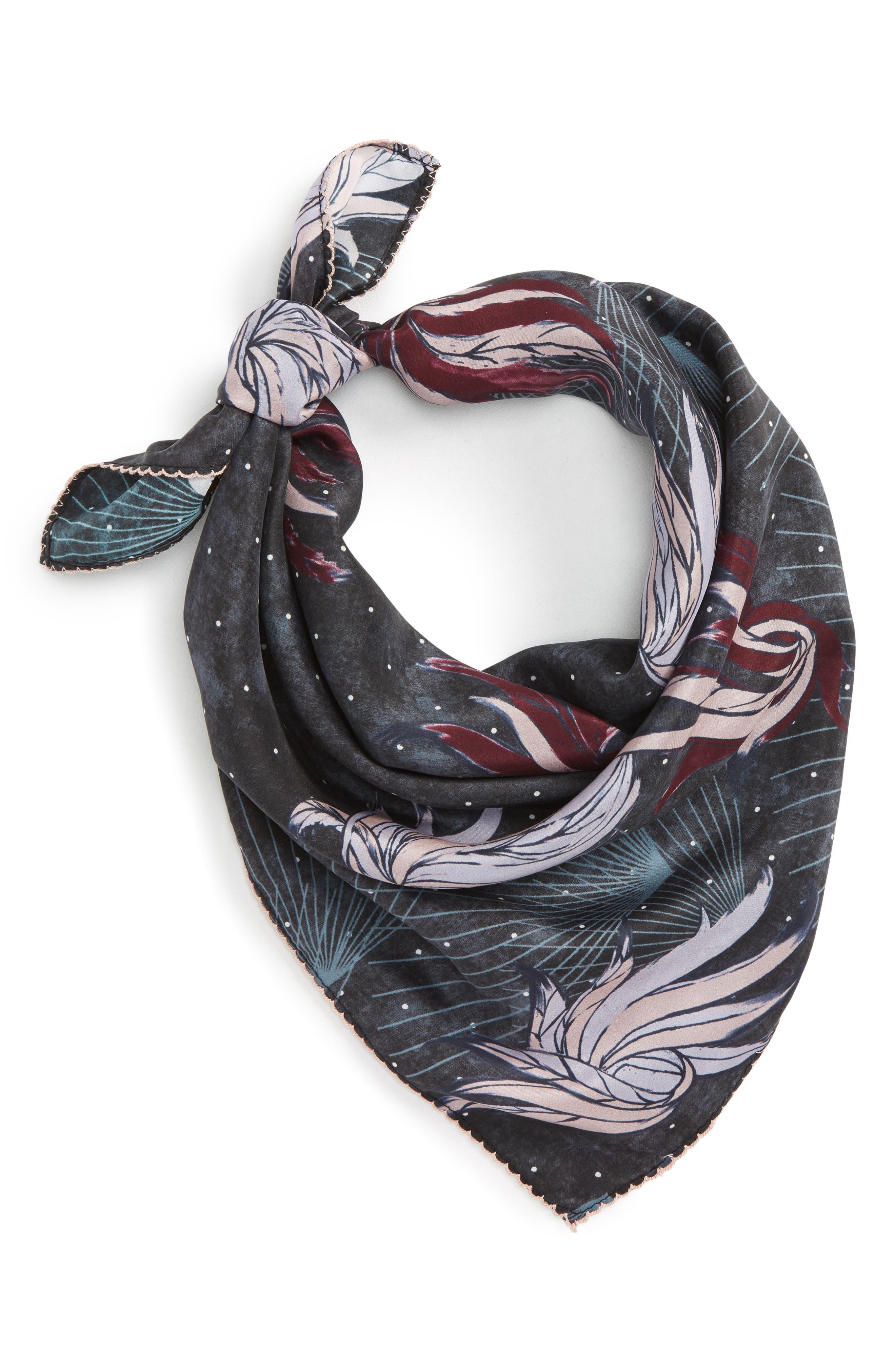 Disco Wings Silk Scarf,                         Main,                         color, 001