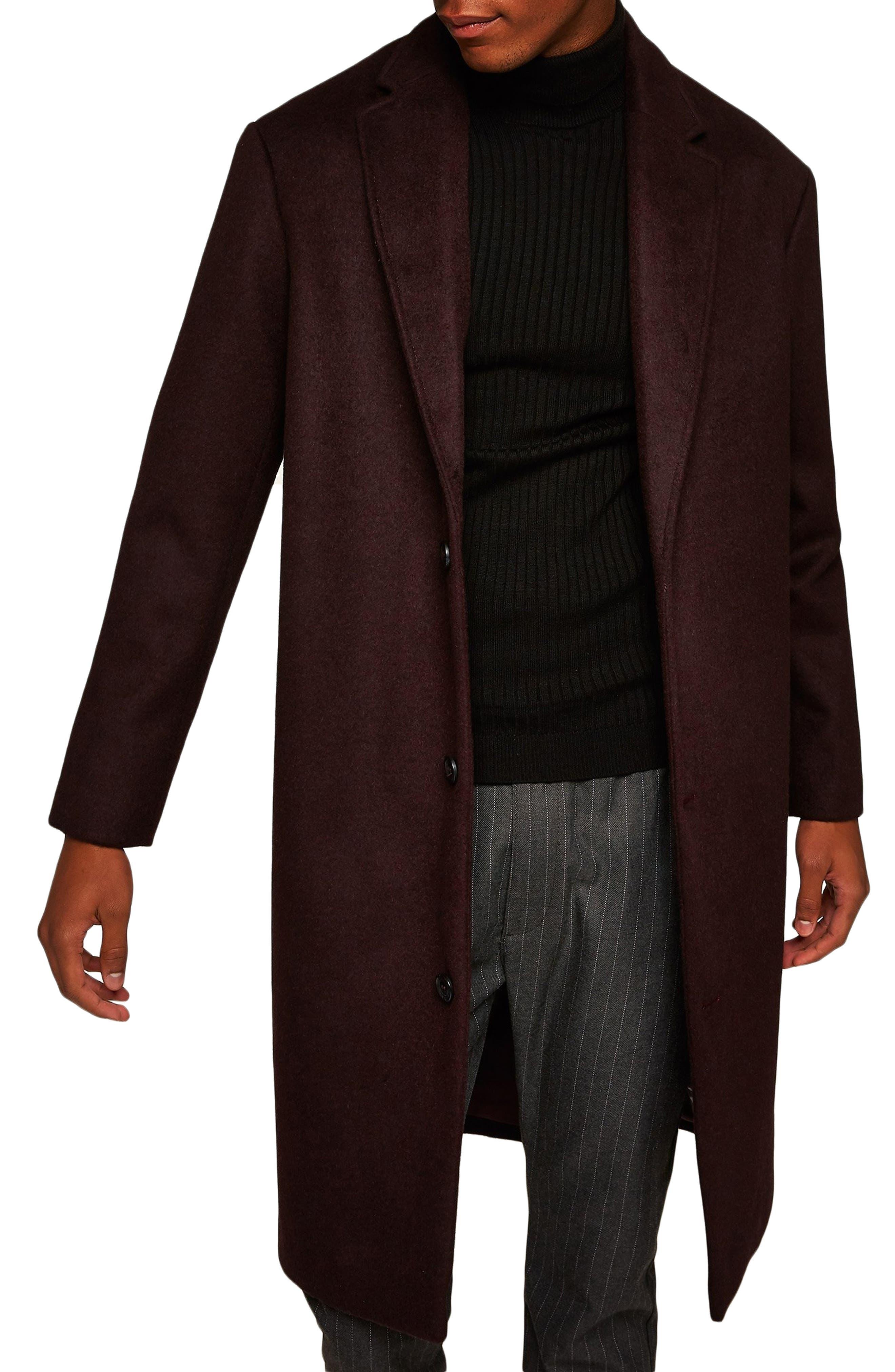 Hayden Oversize Overcoat,                         Main,                         color, BURGUNDY
