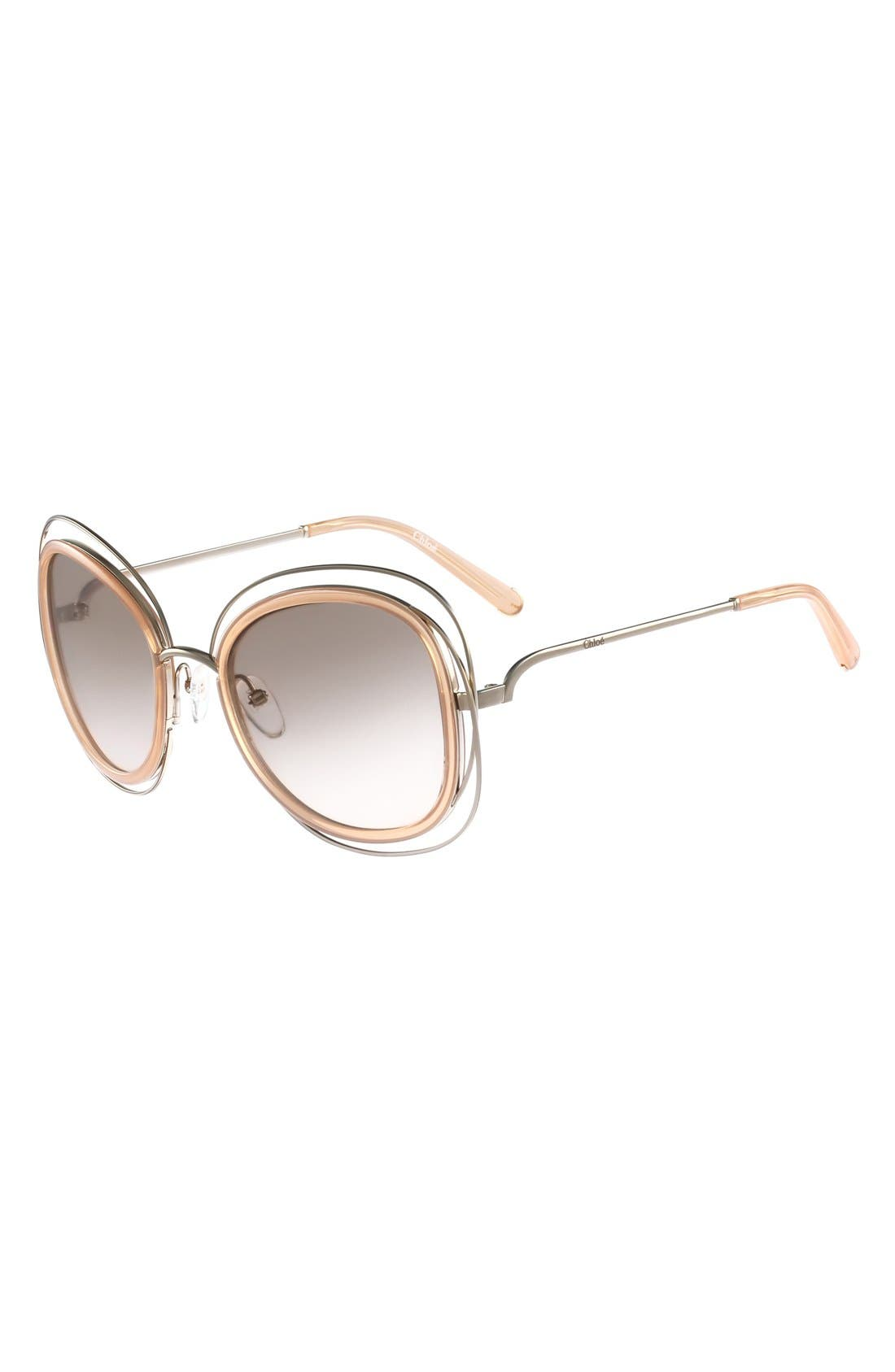 'Carlina' 56mm Gradient Sunglasses,                             Alternate thumbnail 2, color,                             710